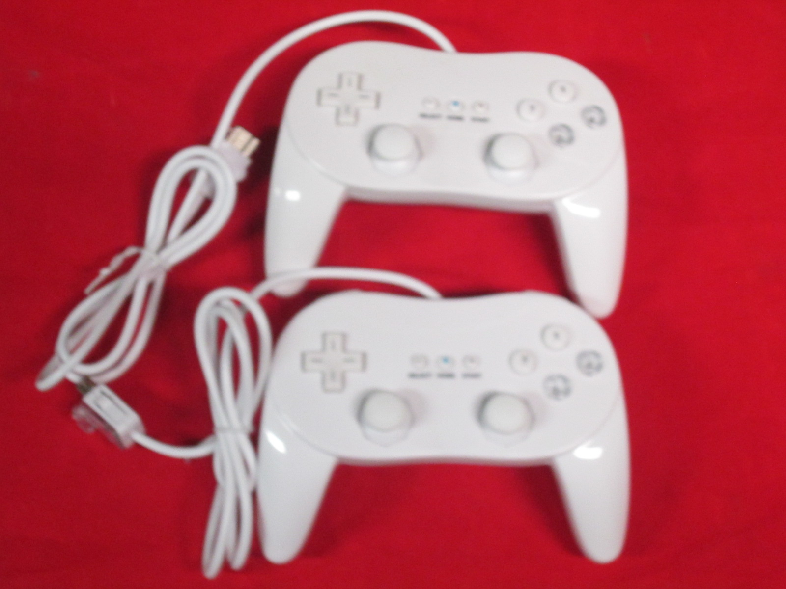 2 Classic Controller Pro For Nintendo Wii Remote White