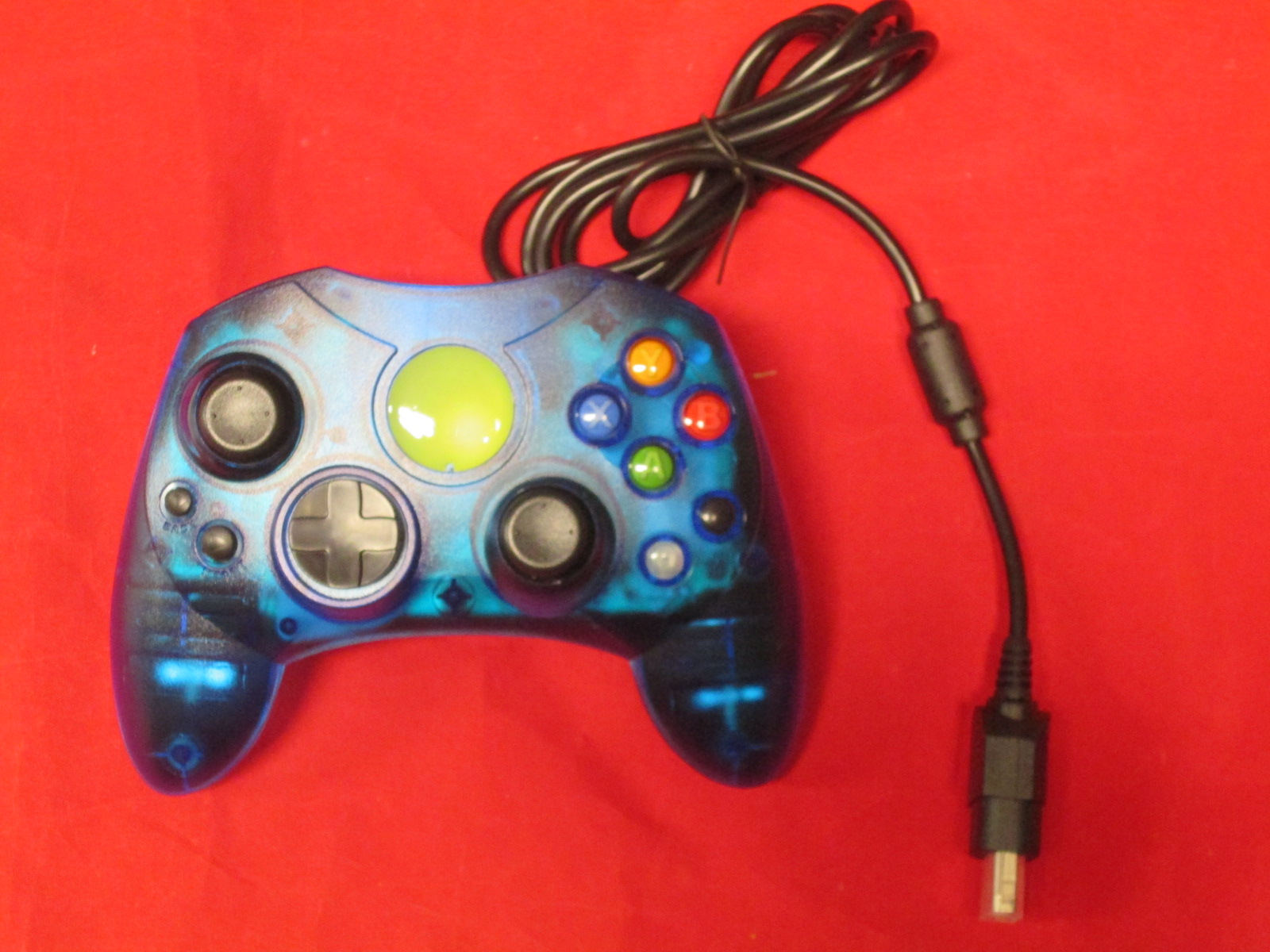 Replacement Controller For Xbox Original Blue Transparent By Mars