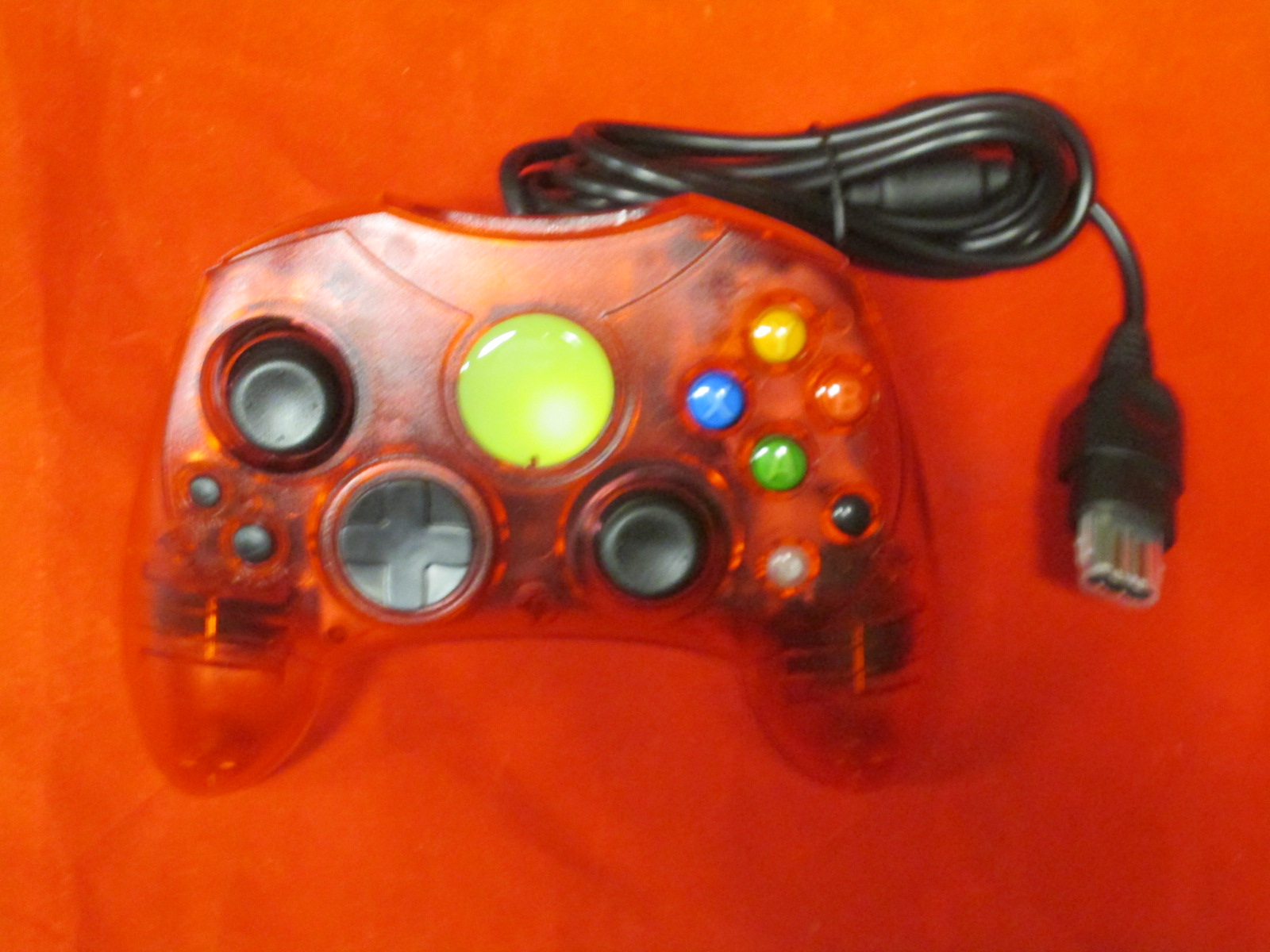Replacement Controller For Xbox Original Red Transparent By Mars