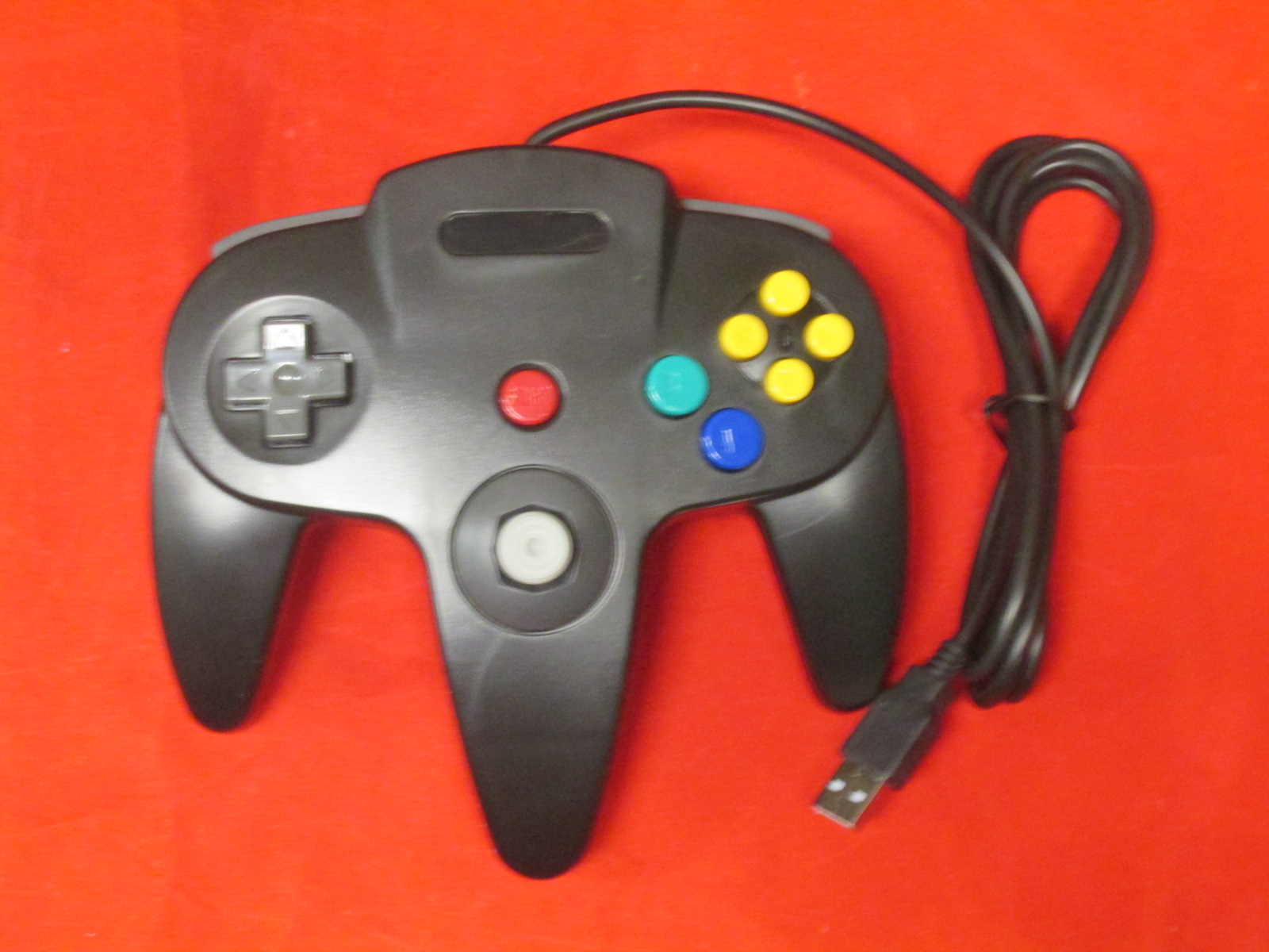 Image 0 of Nintendo N64 USB Controller For Windows/mac/linux Black By Mars