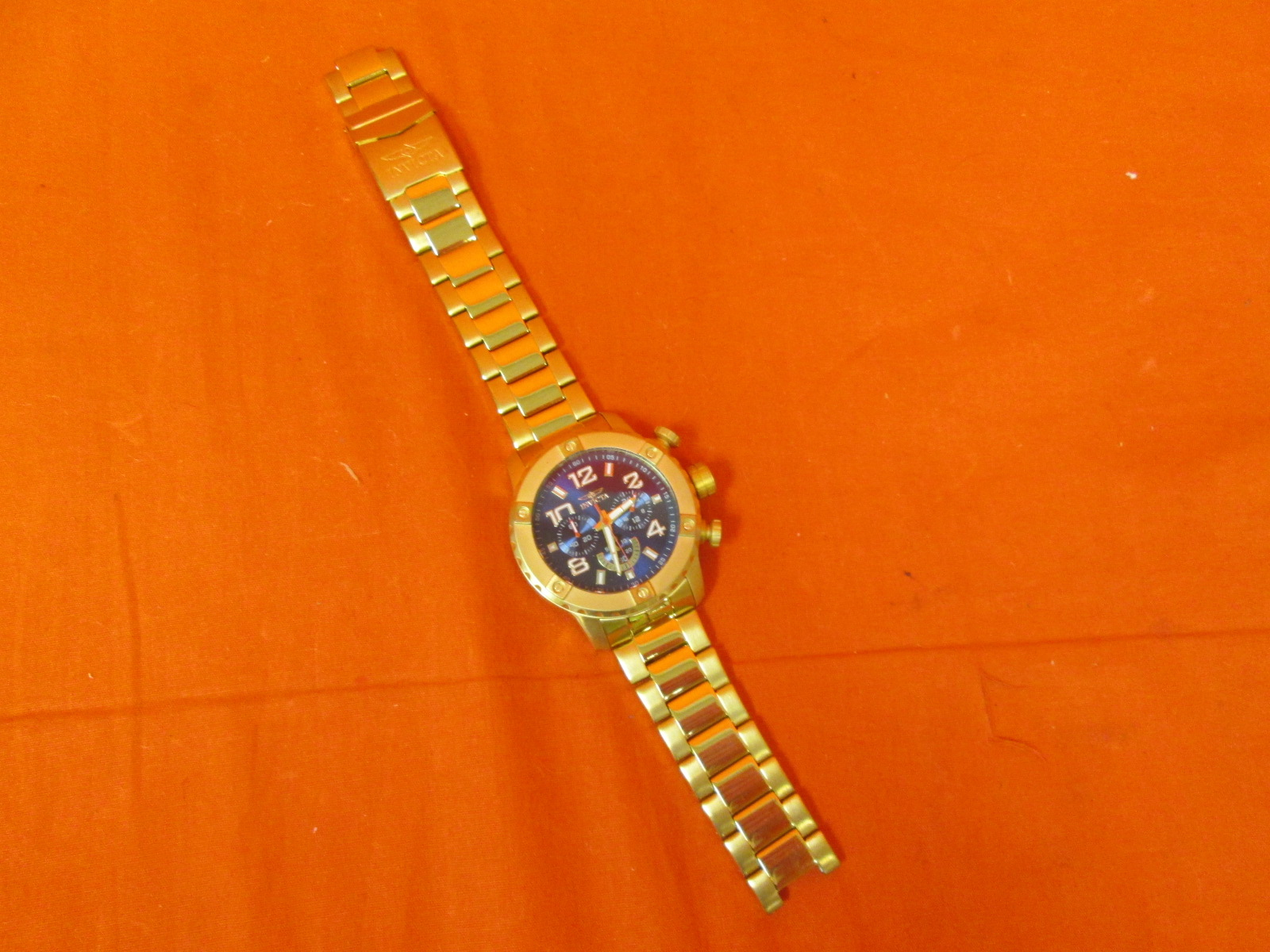 Invicta Men's 19666 48MM Quartz Chronograph Gold Watch Untested