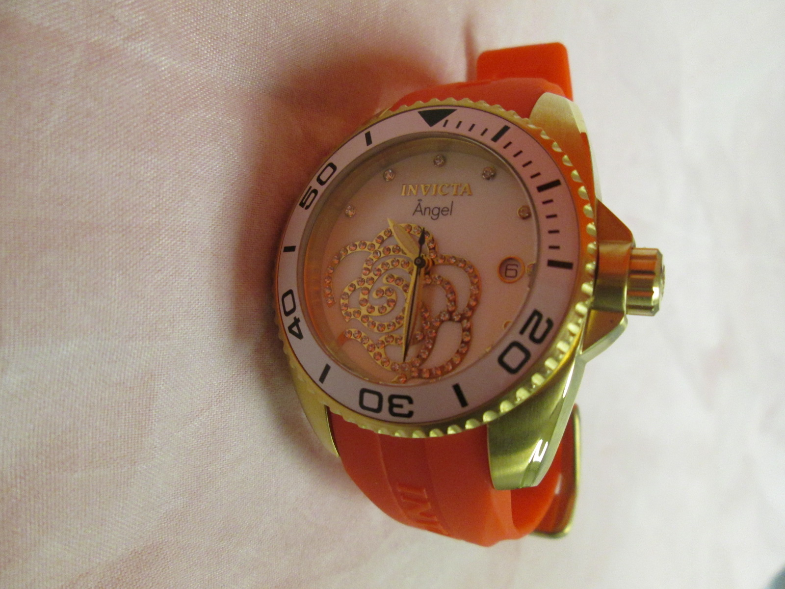 Invicta 19741 Women's Angel Red Watch With Rose Dial Untested