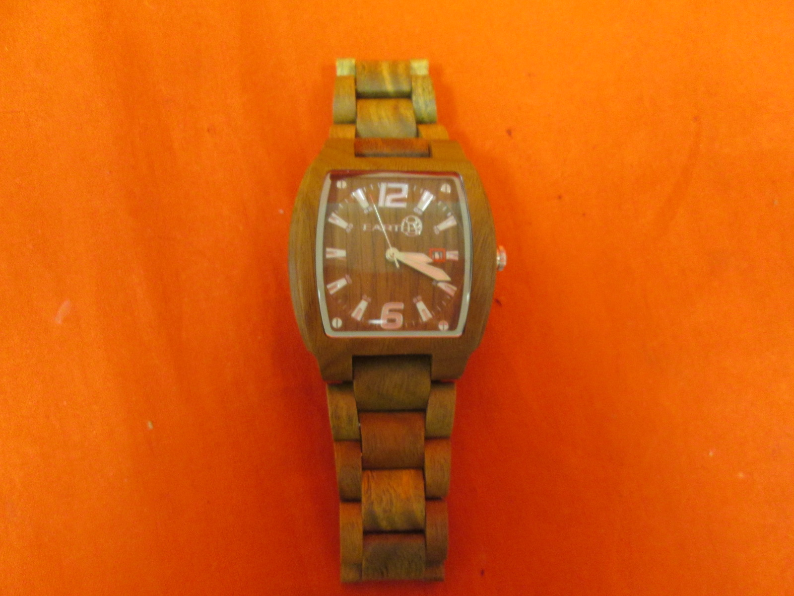 Earth Wood Women's ETHEW2404 Sagano Bracelet Olive Wood Watch Untested