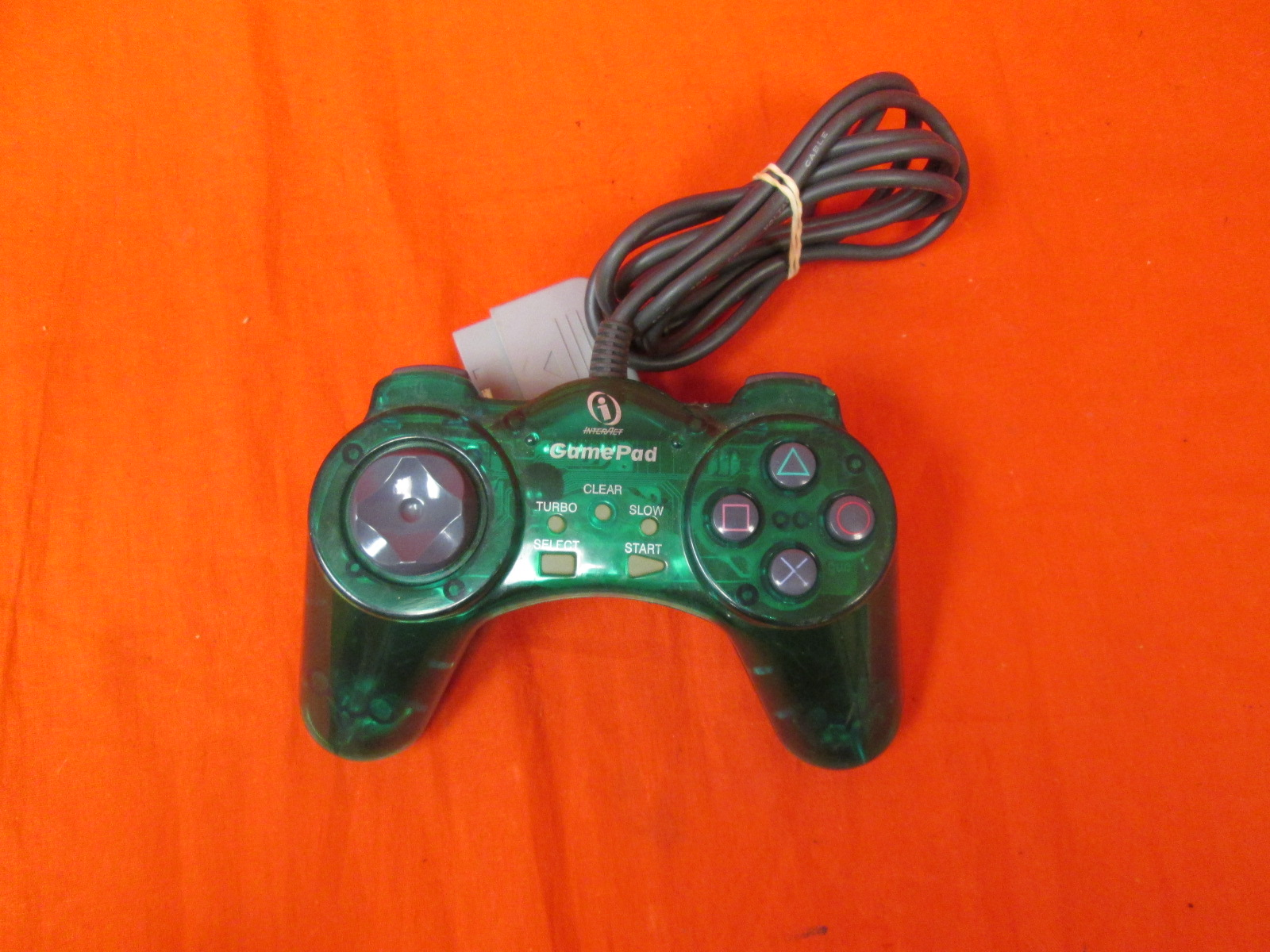 Interact Ps One Gamepad Colors Digital PlayStation Controller Green