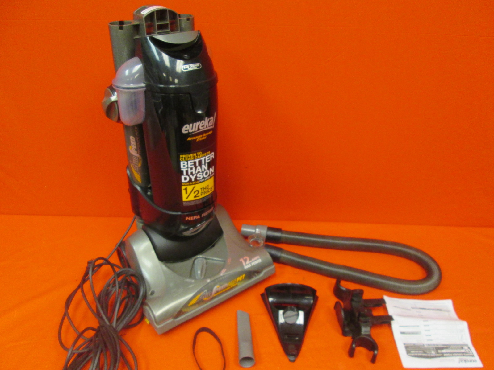 Eureka Airspeed Bagged Upright Vacuum AS1051A Incomplete