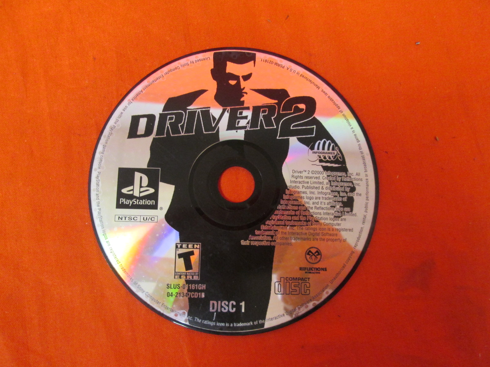 Replacement Disc 1 For Driver 2 PlayStation For PlayStation 1