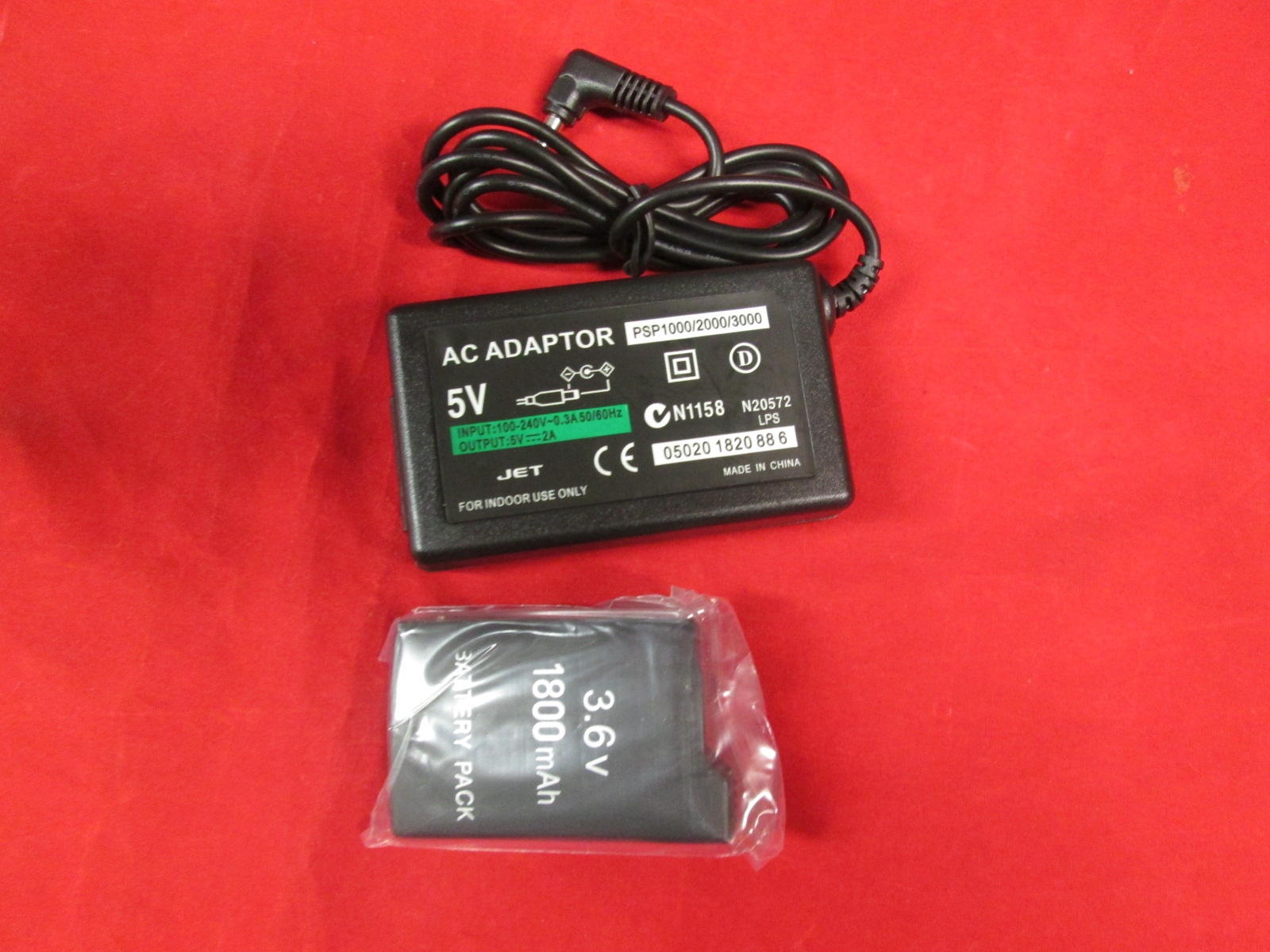 Home Travel Wall AC Charger And Battery Pack For Sony 1000 For PSP