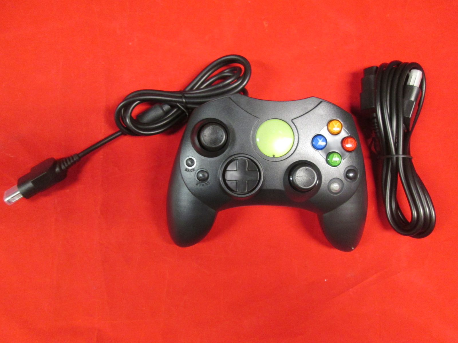 Black Xbox Original Controller Bundle Controller And Extension Cable
