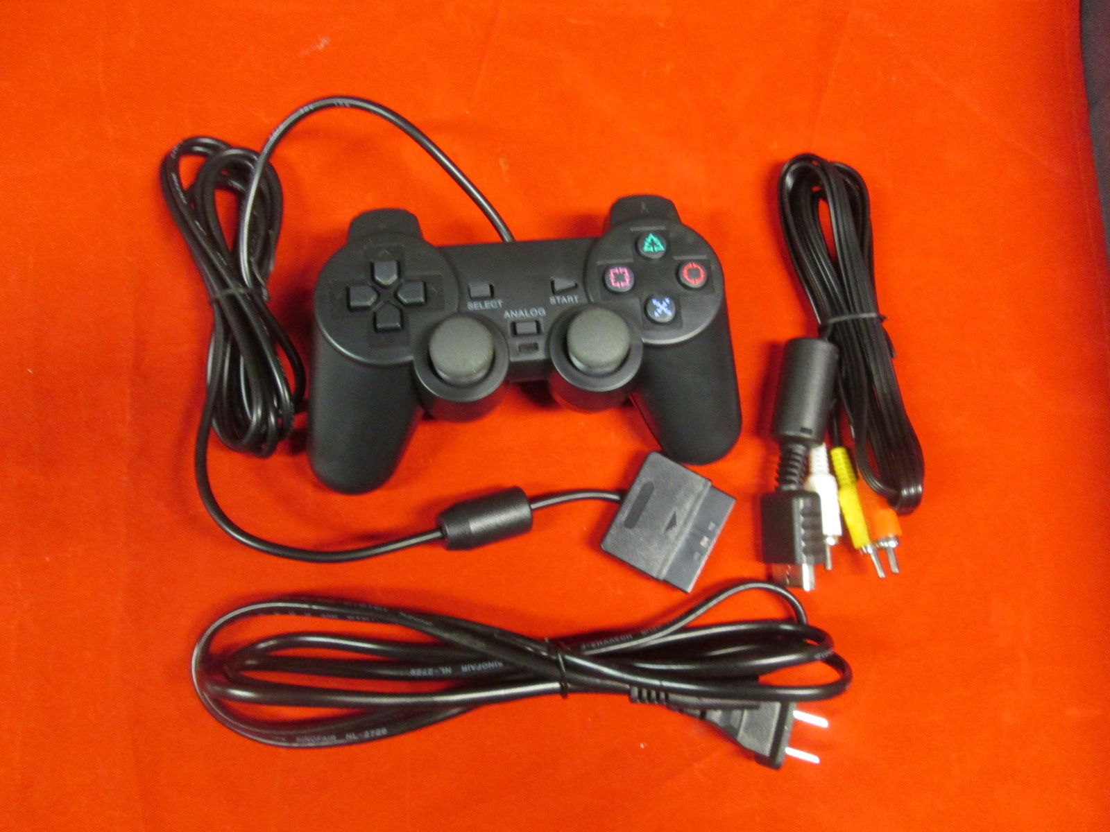 Fat PS2 Parts Bundle Controller AV Cable And Power Adapter By Mars