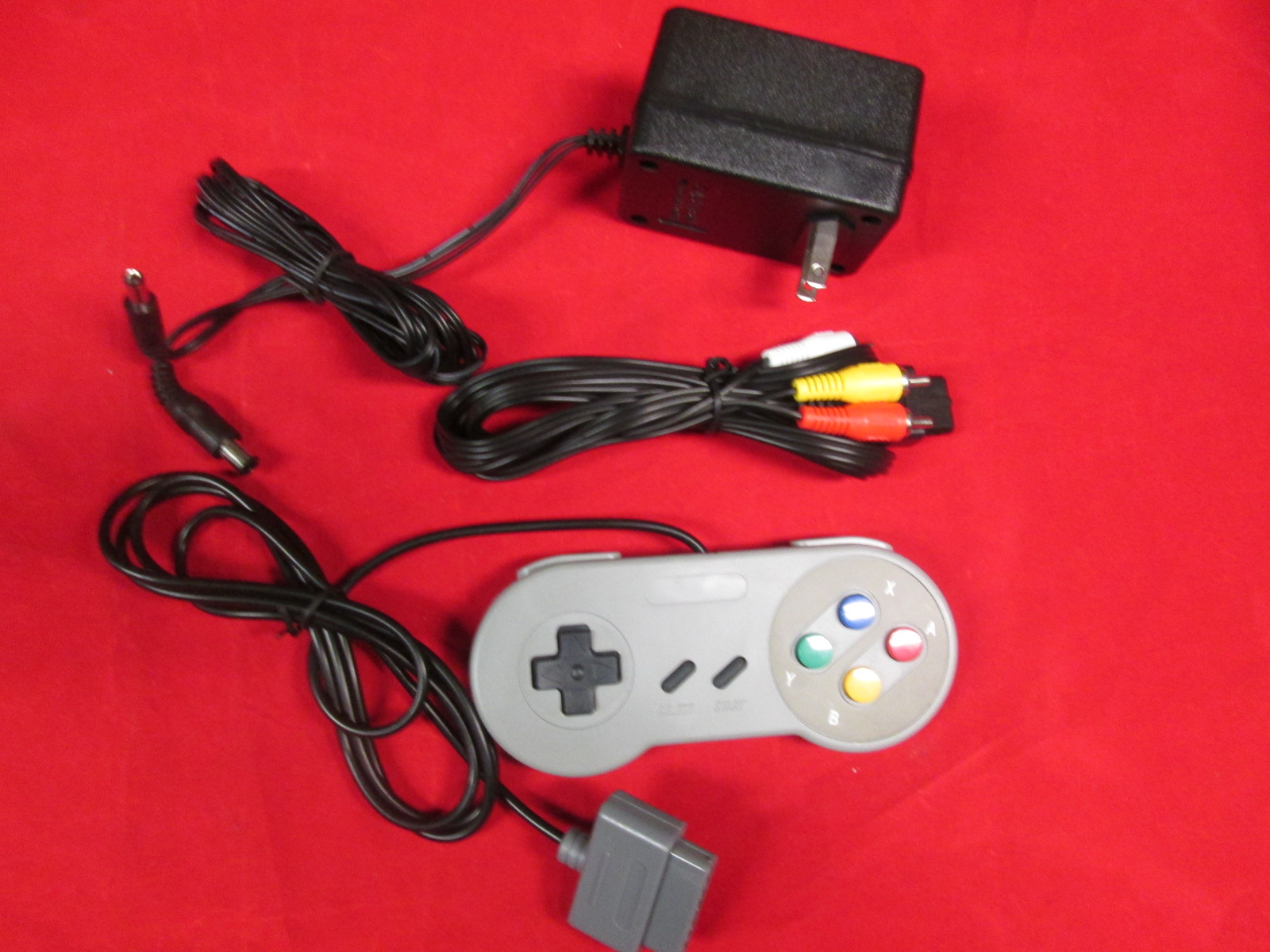 SNES Bundle 2 Controllers AC Adapter Power Cord & AV Cable Super