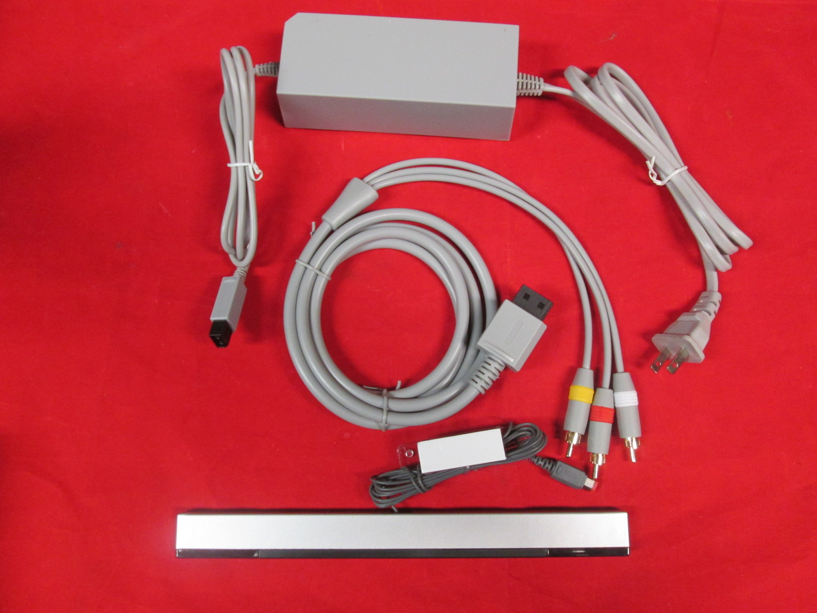 Complete Hookup Connection Kit Composite AV Cable Power Cord Sensor