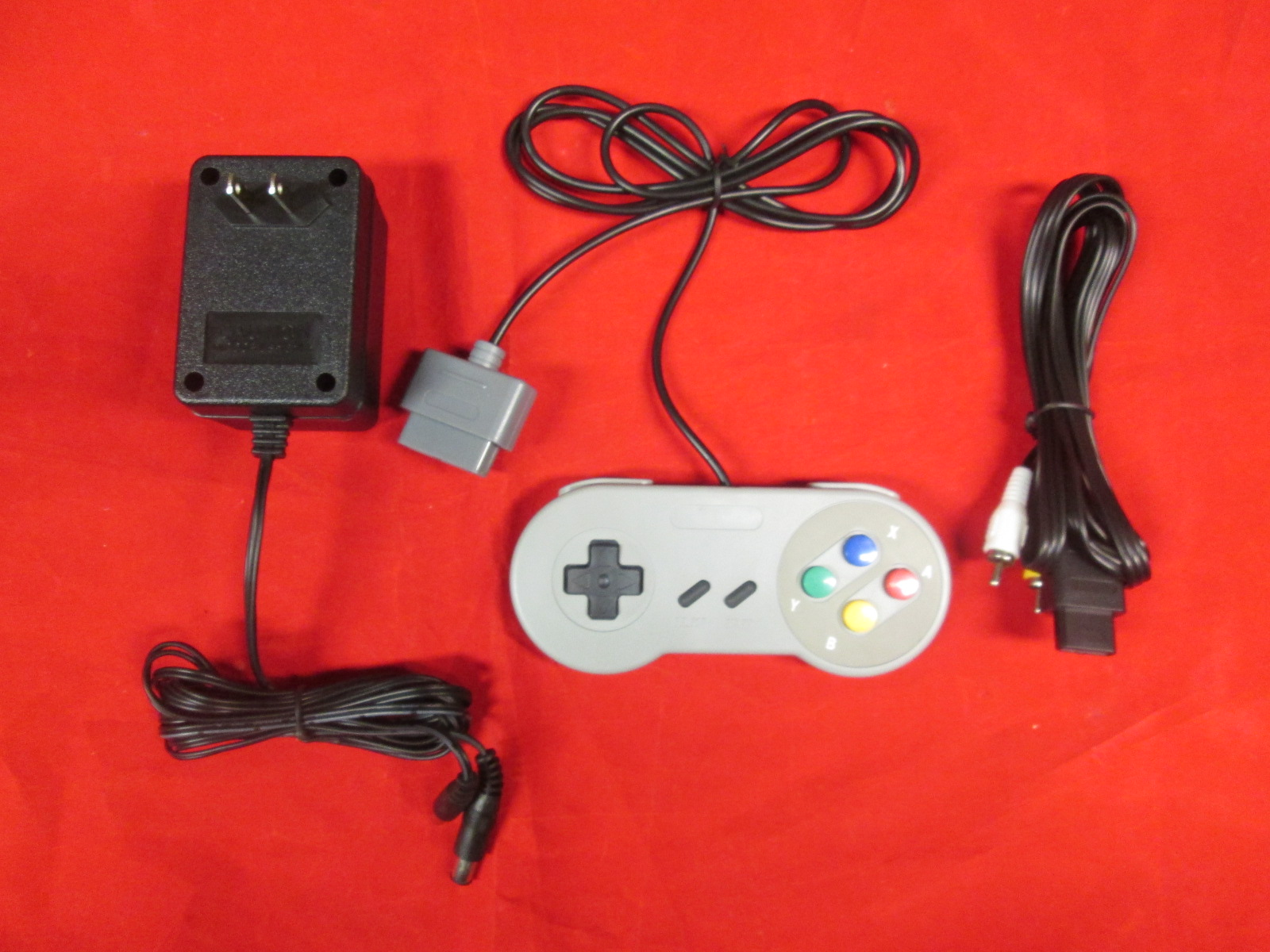 SNES Parts Bundle 2 Controllers Power Adapter And AV Cable By Mars