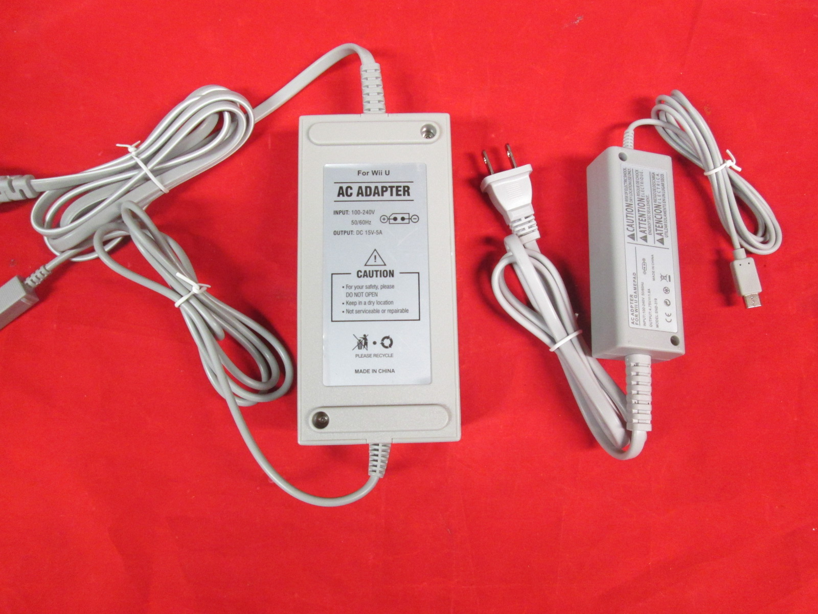 Wii U Parts Bundle Gamepad Power Adapter And Console Power Adapter By