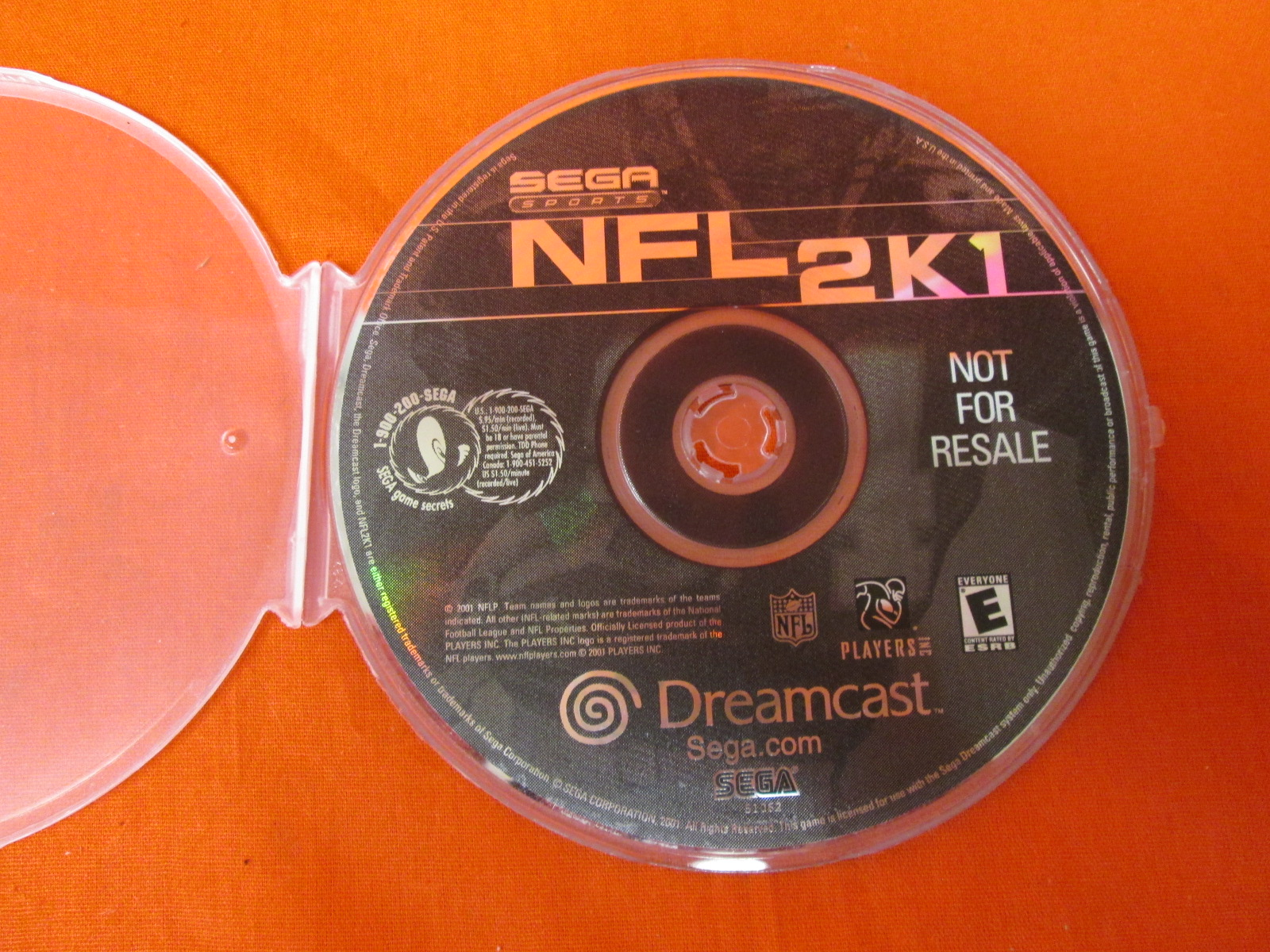 NFL 2K1 For Sega Dreamcast