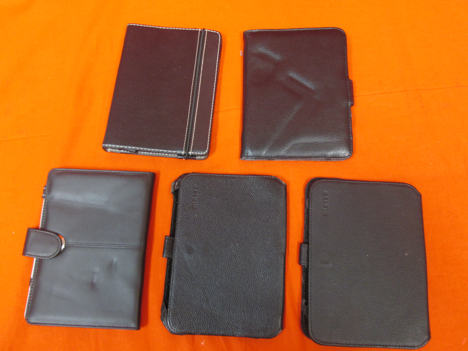 Lot Of 5 Tablet Cases 7 Inches Black