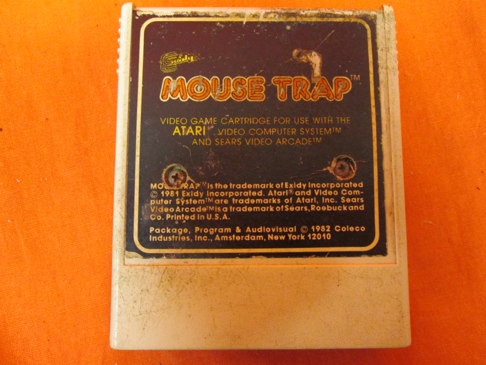 Mouse Trap Video Game For Atari 2600