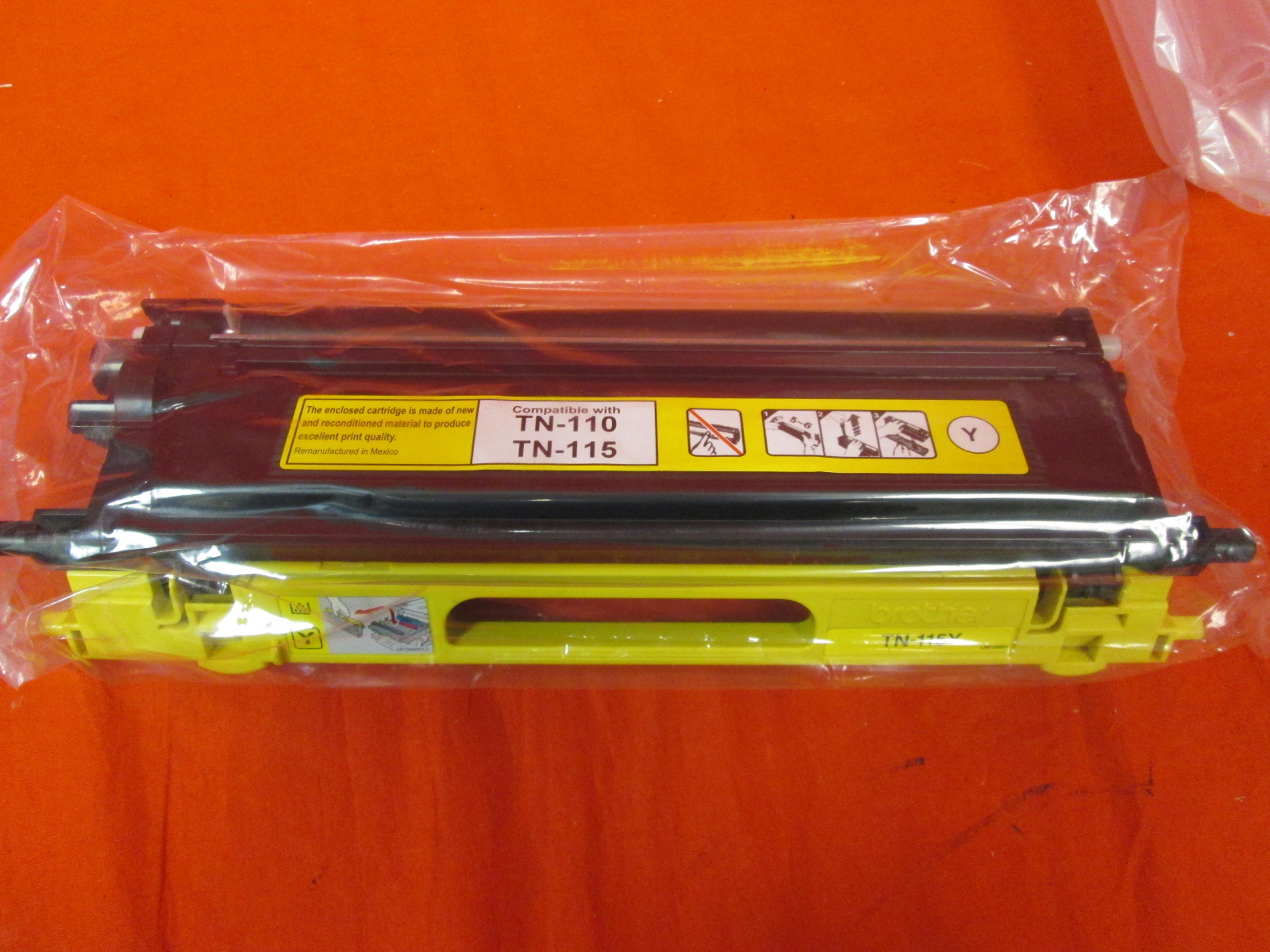 Brother TN115Y Yellow Toner Cartridge High Yield: 4000 Pages Ink