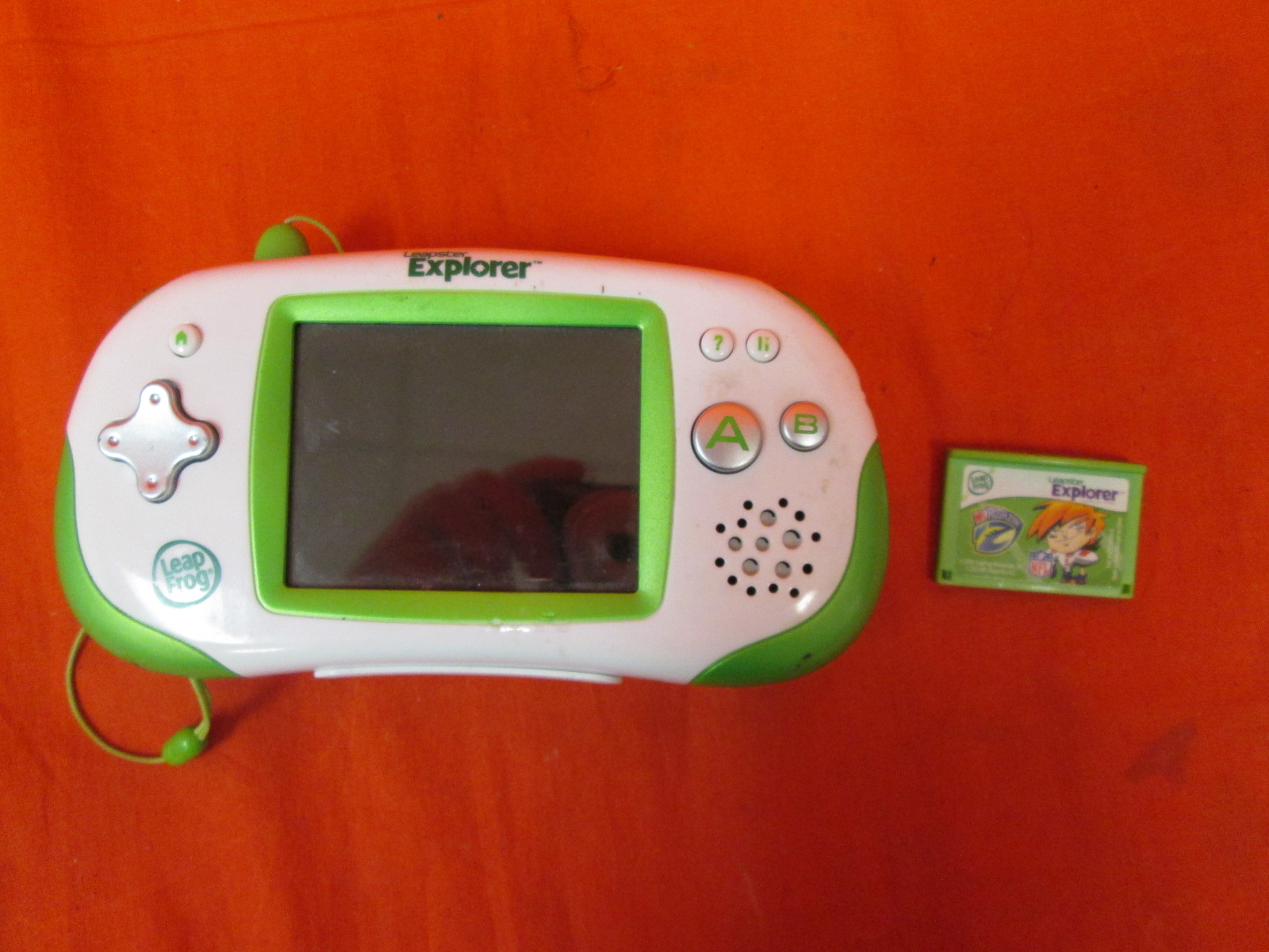 Leapfrog Leapster Explorer Learning Game System Green Incomplete Toy