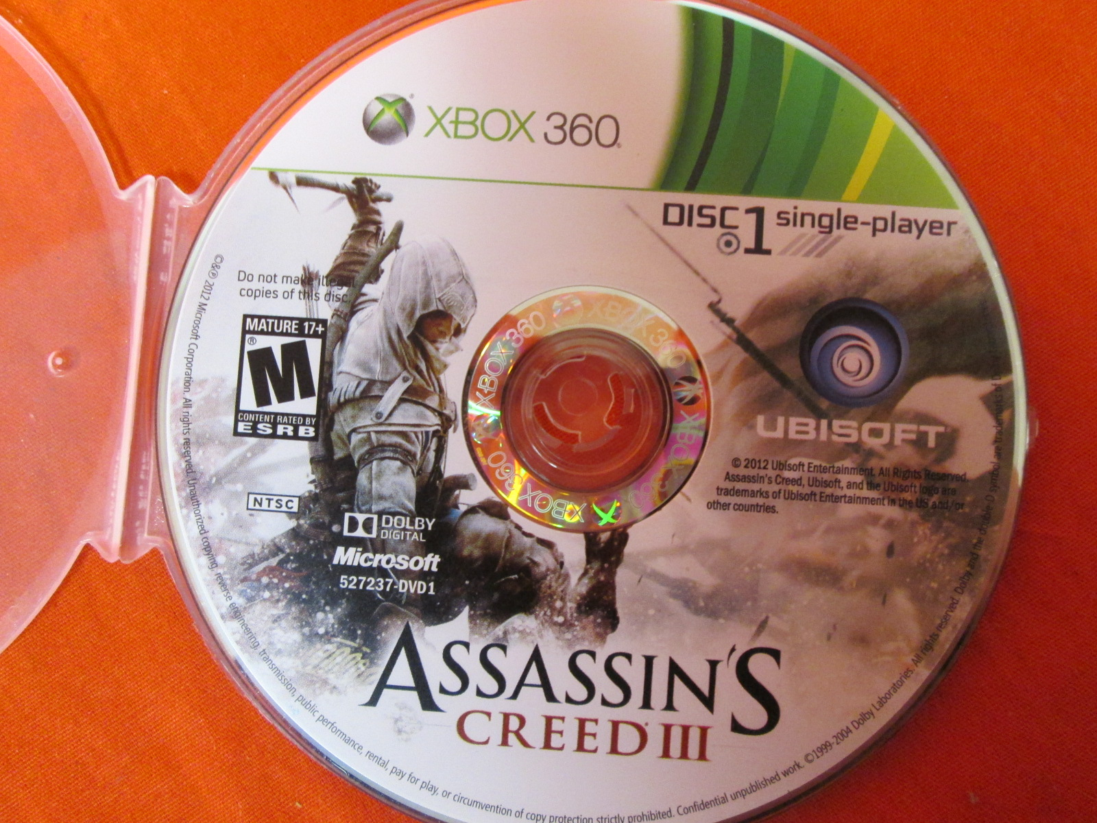 Assassin's Creed III Disc 1 Only For Xbox 360