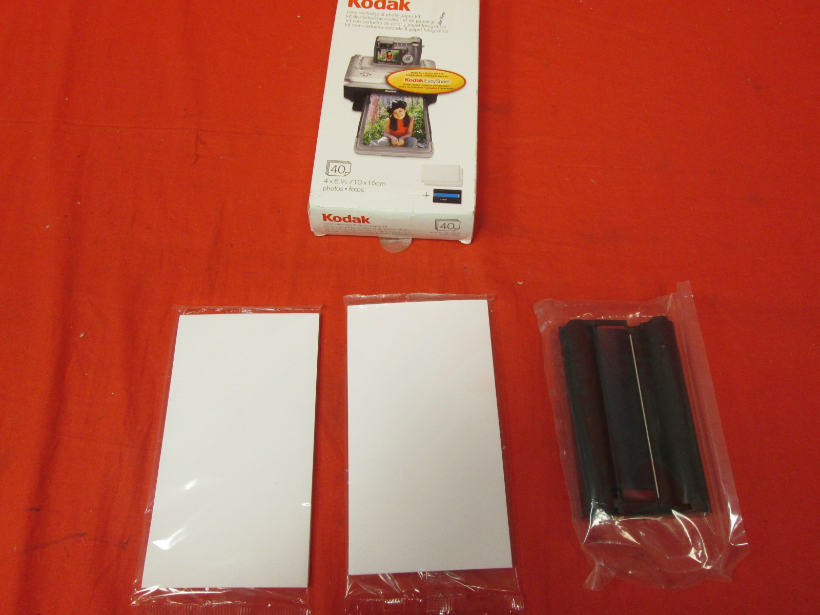 Kodak PH-40 Easyshare Printer Dock Color Cartridge And Photo Paper