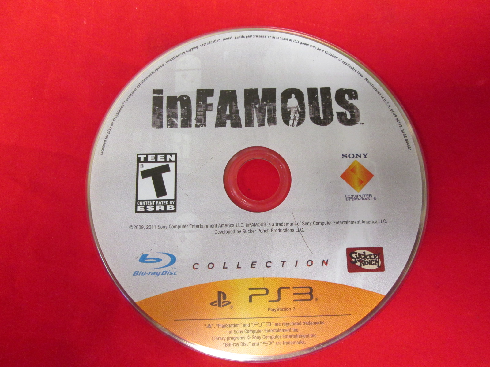 Infamous For PlayStation 3 Disc Only