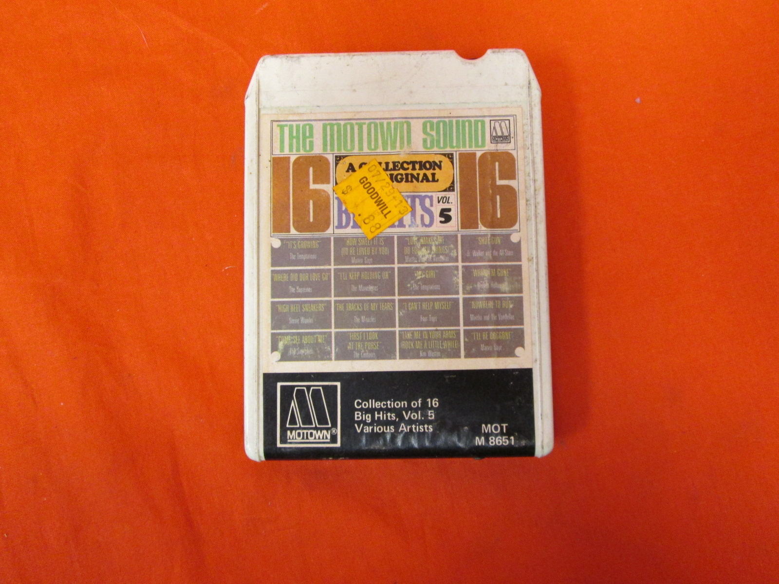 The Motown Sound: A Collection Of 16 Original Big Hits Vol 5 On 8