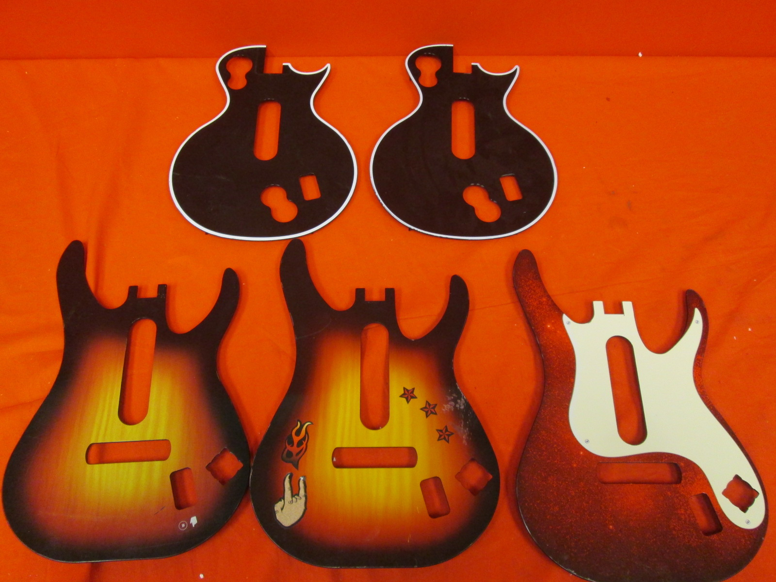 Lot Of 5 Guitar Hero Face-Plates Xbox 360 And For PlayStation 3