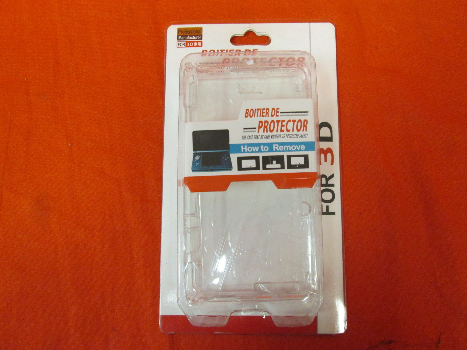 Nintendo 3DS Clear Protective Case Generic On Gameboy