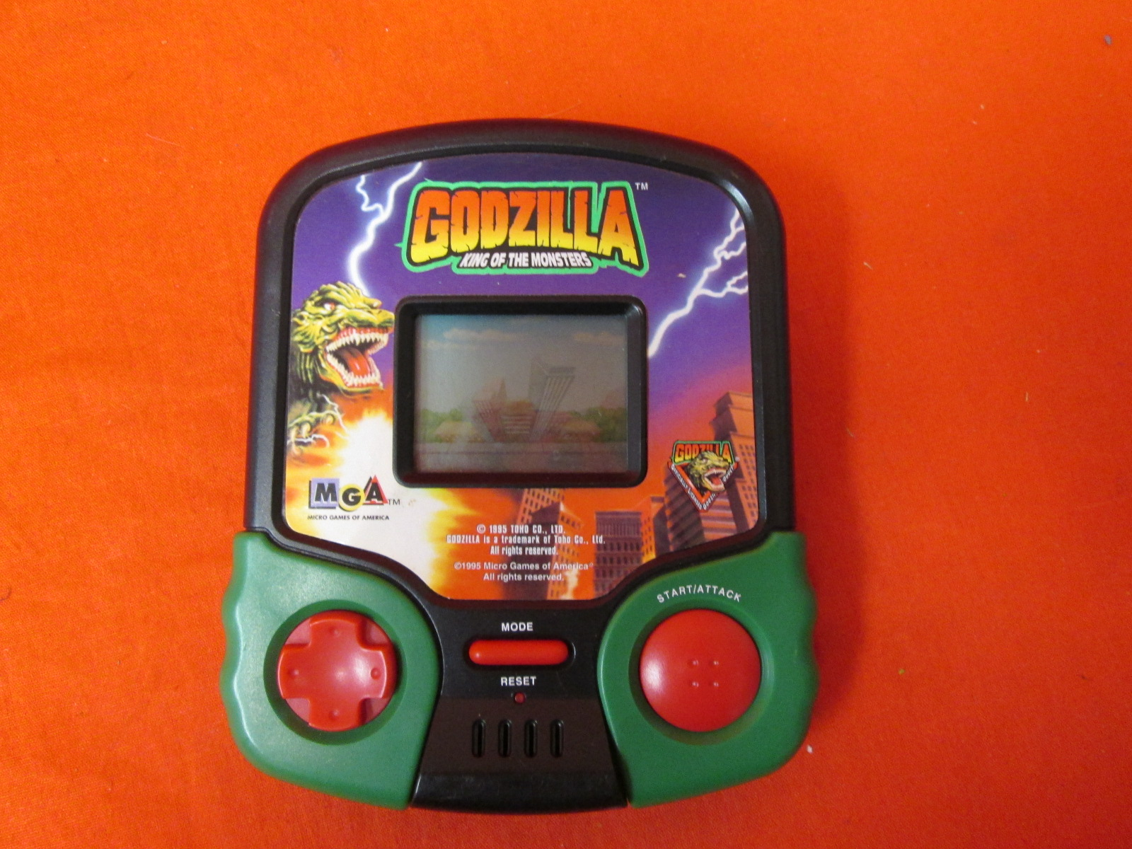 Godzilla King Of The Monsters Handheld LCD Video Game Toy