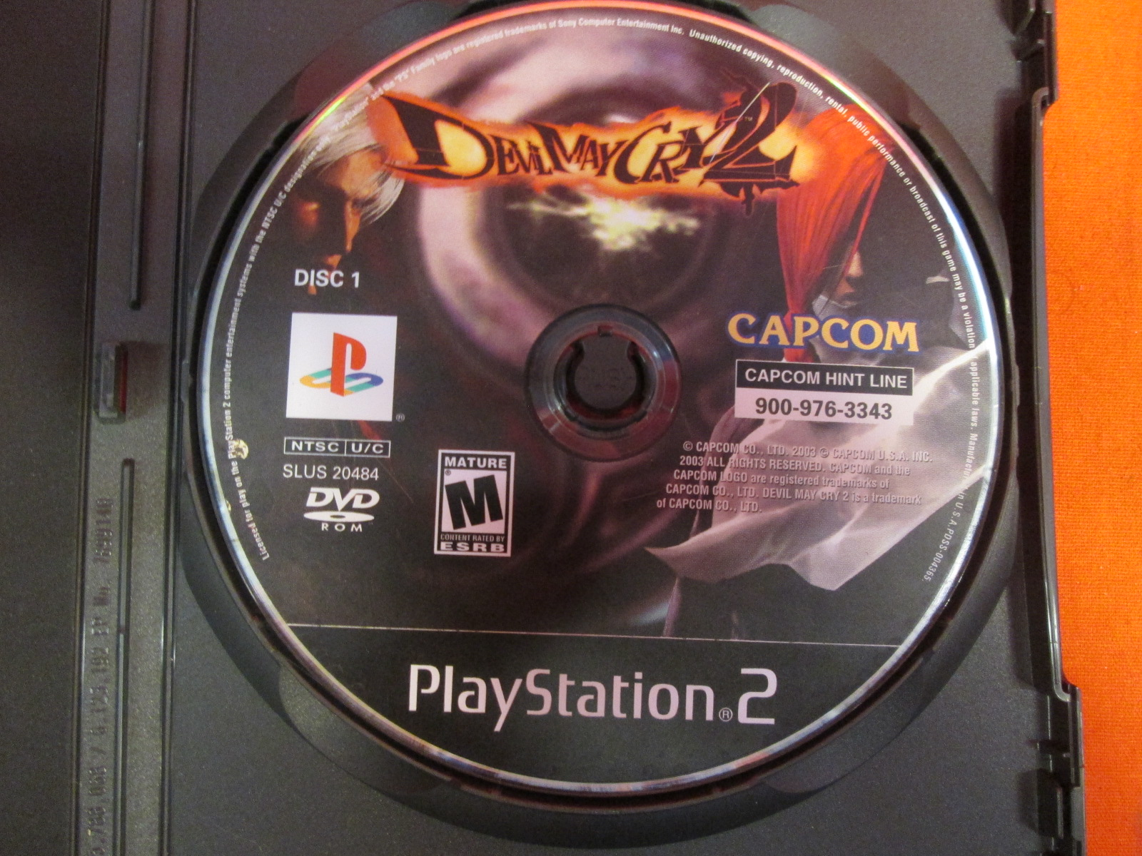 Replacement Disc 1 For Devil May Cry 2 For PlayStation 2