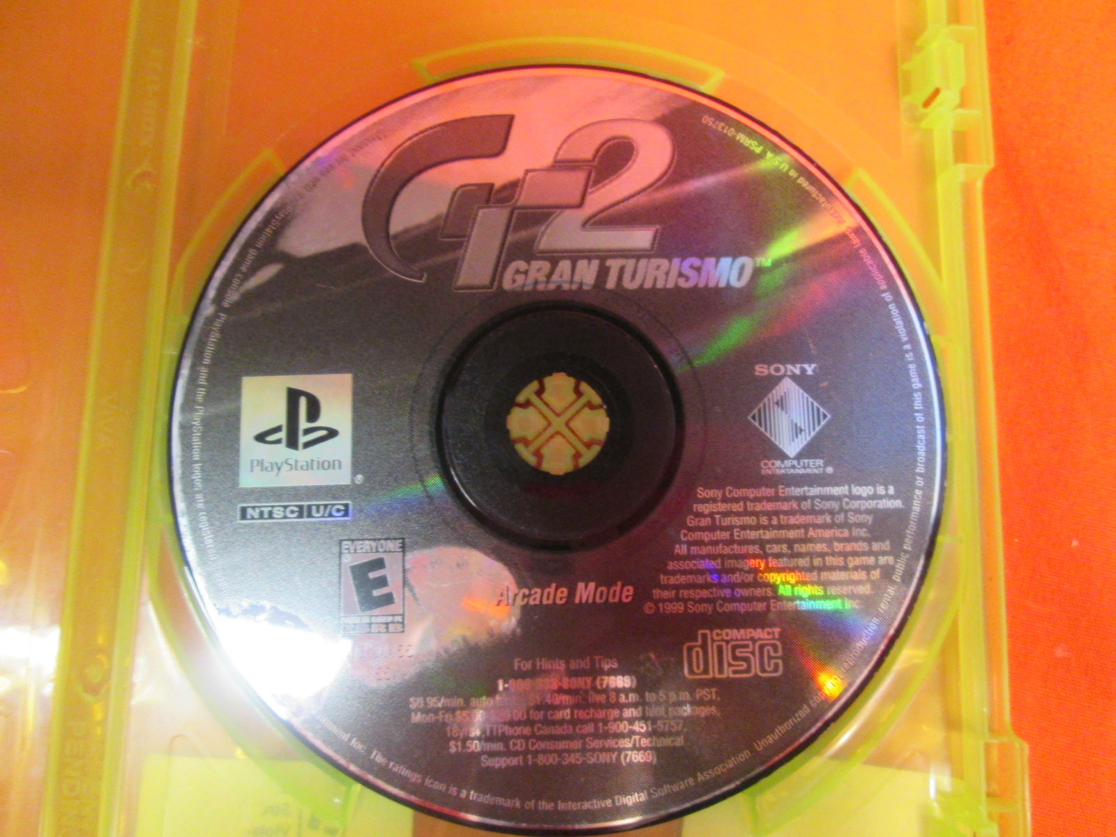 Replacement Disc 1 For Gran Turismo 2 For PlayStation 1