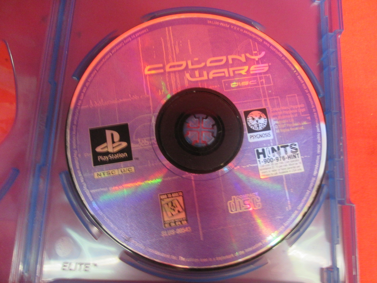 Replacement Disc 1 For Colony Wars For PlayStation 1