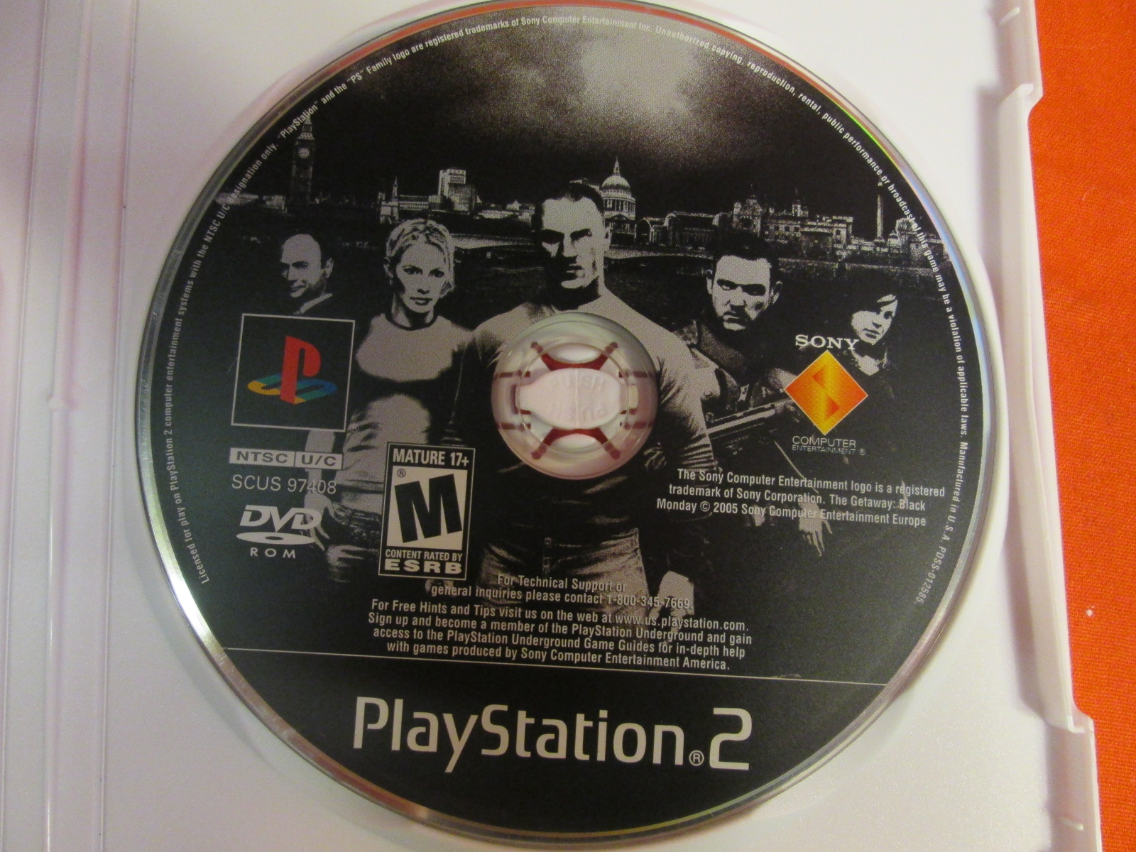 Replacement Disc For The Getaway For PlayStation 2