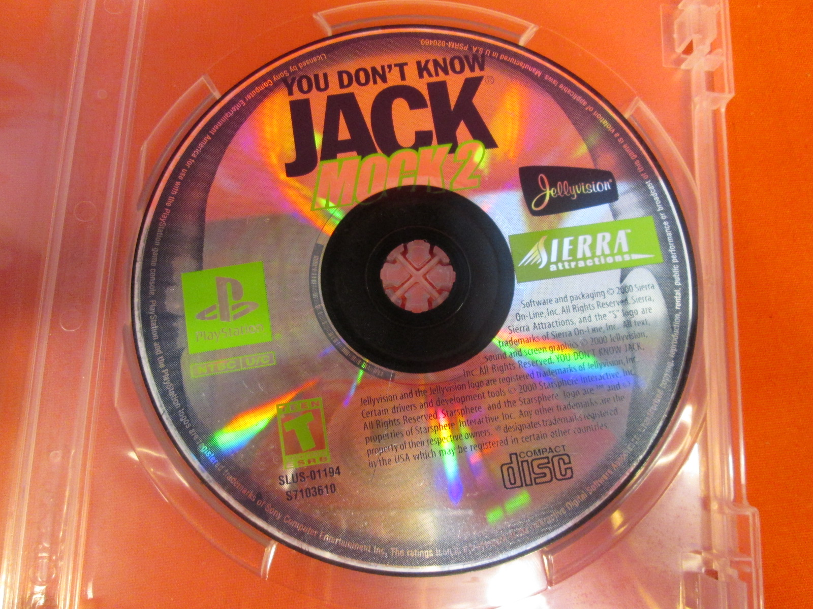 Replacement Disc For You Don't Know Jack Mock 2 For PlayStation 1