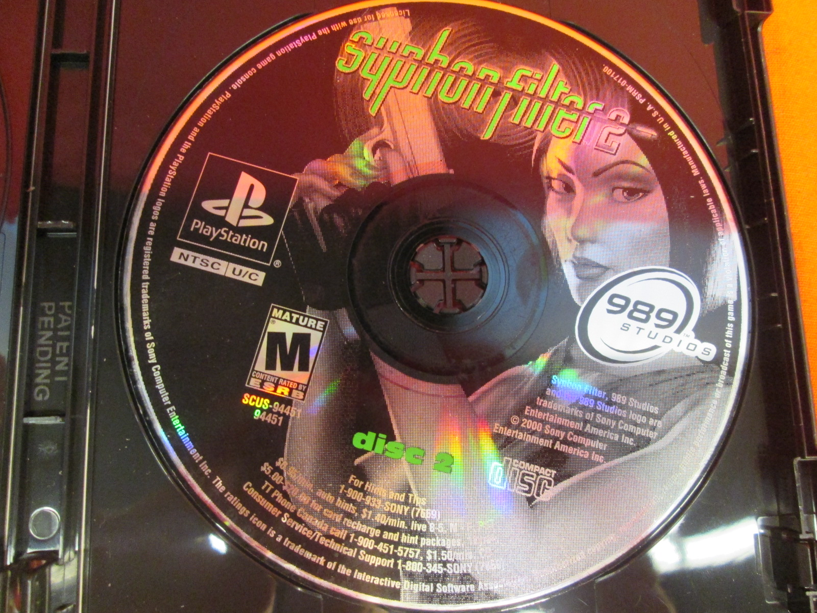 Replacement Disc 2 For Syphon Filter 2 For PlayStation 1