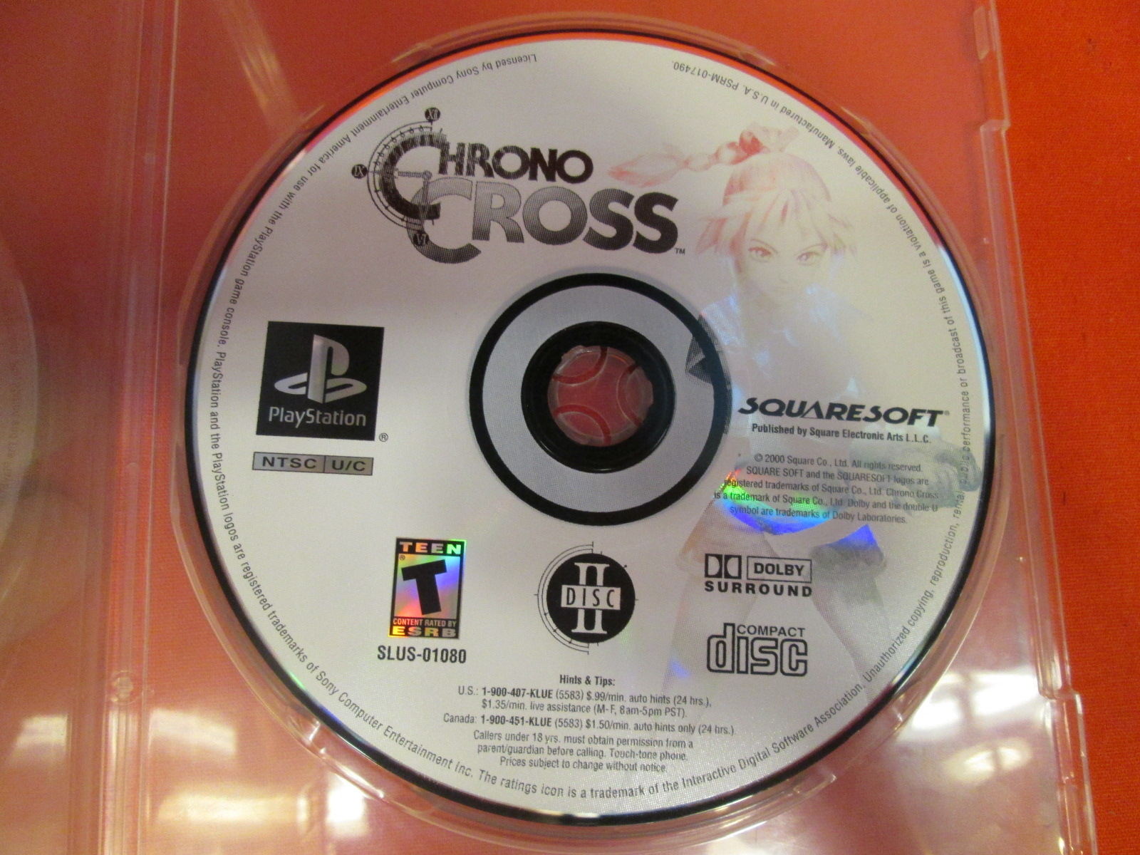 Replacement Disc 2 For Chrono Cross PlayStation For PlayStation 1