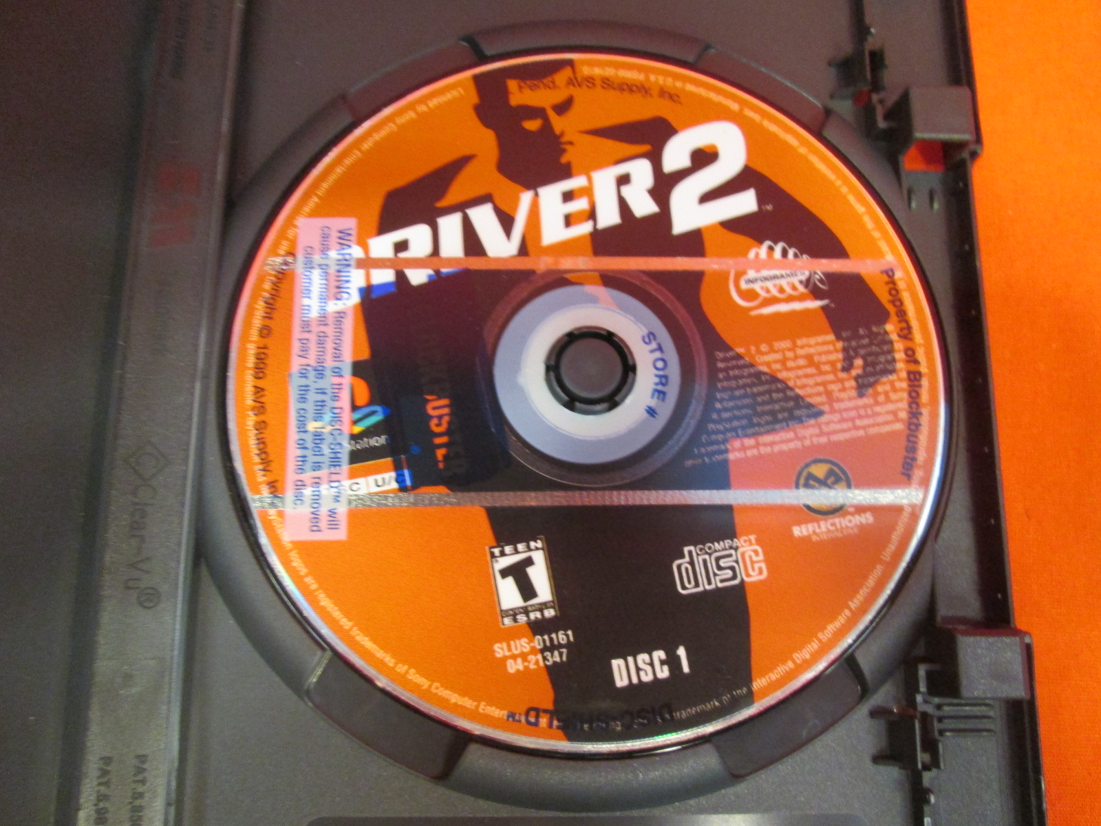 Replacement Disc 1 For Driver 2 For PlayStation