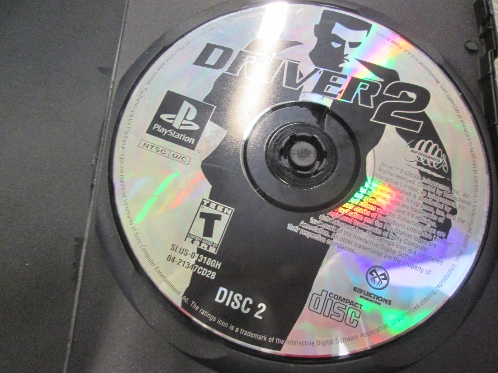 Replacement Disc 2 For Driver 2 For PlayStation 1