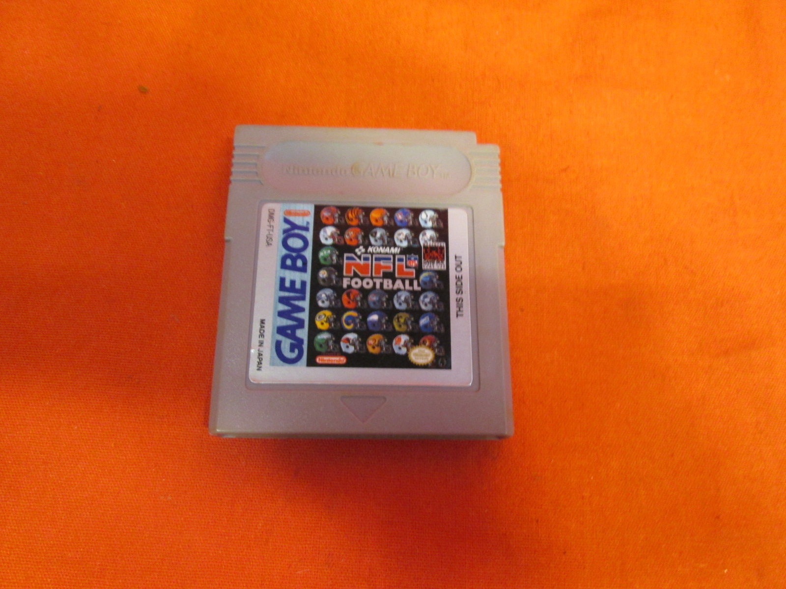 NFL Football On Gameboy