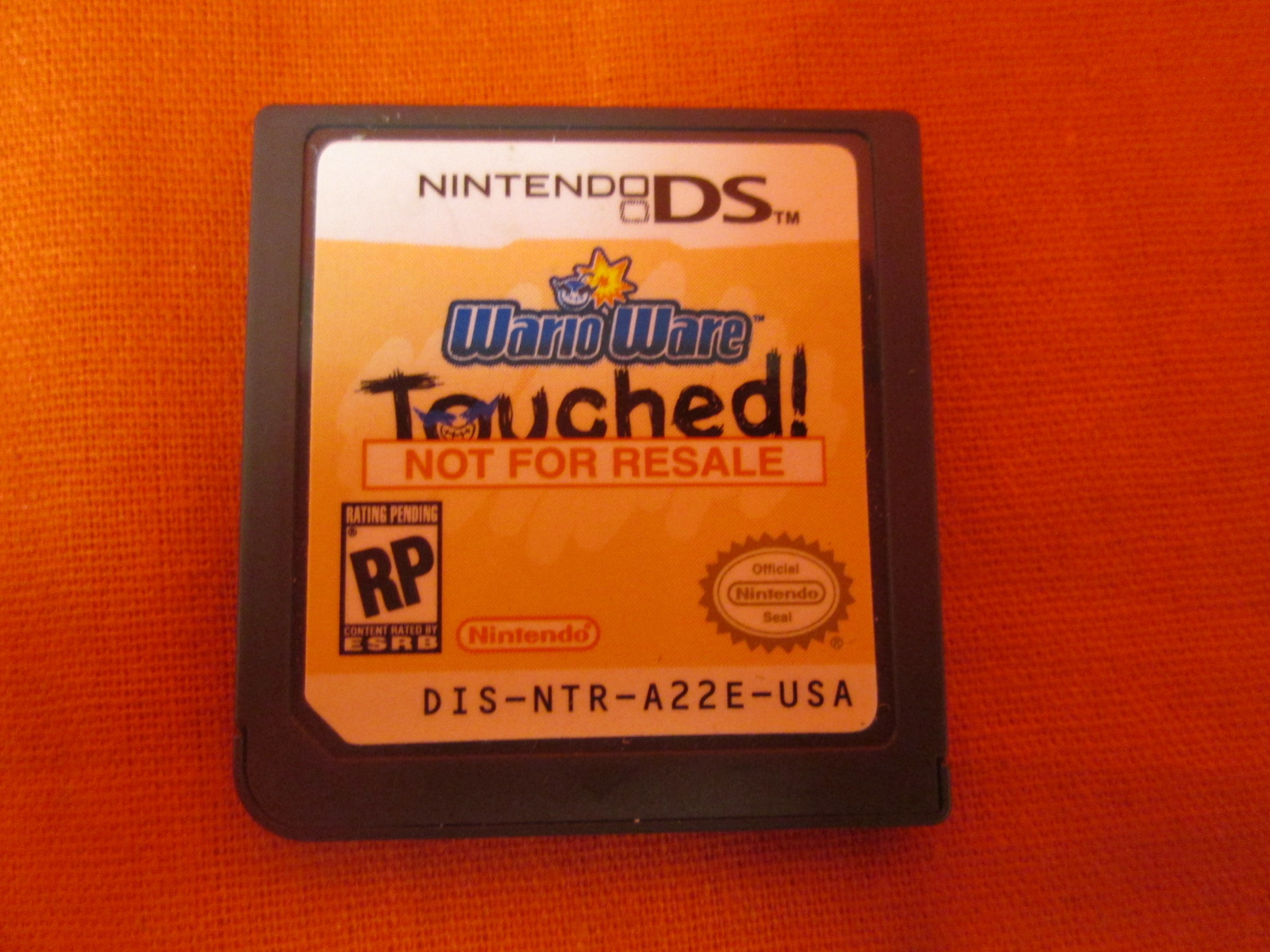 Warioware Touched! Not For Resale For Nintendo DS DSi 3DS