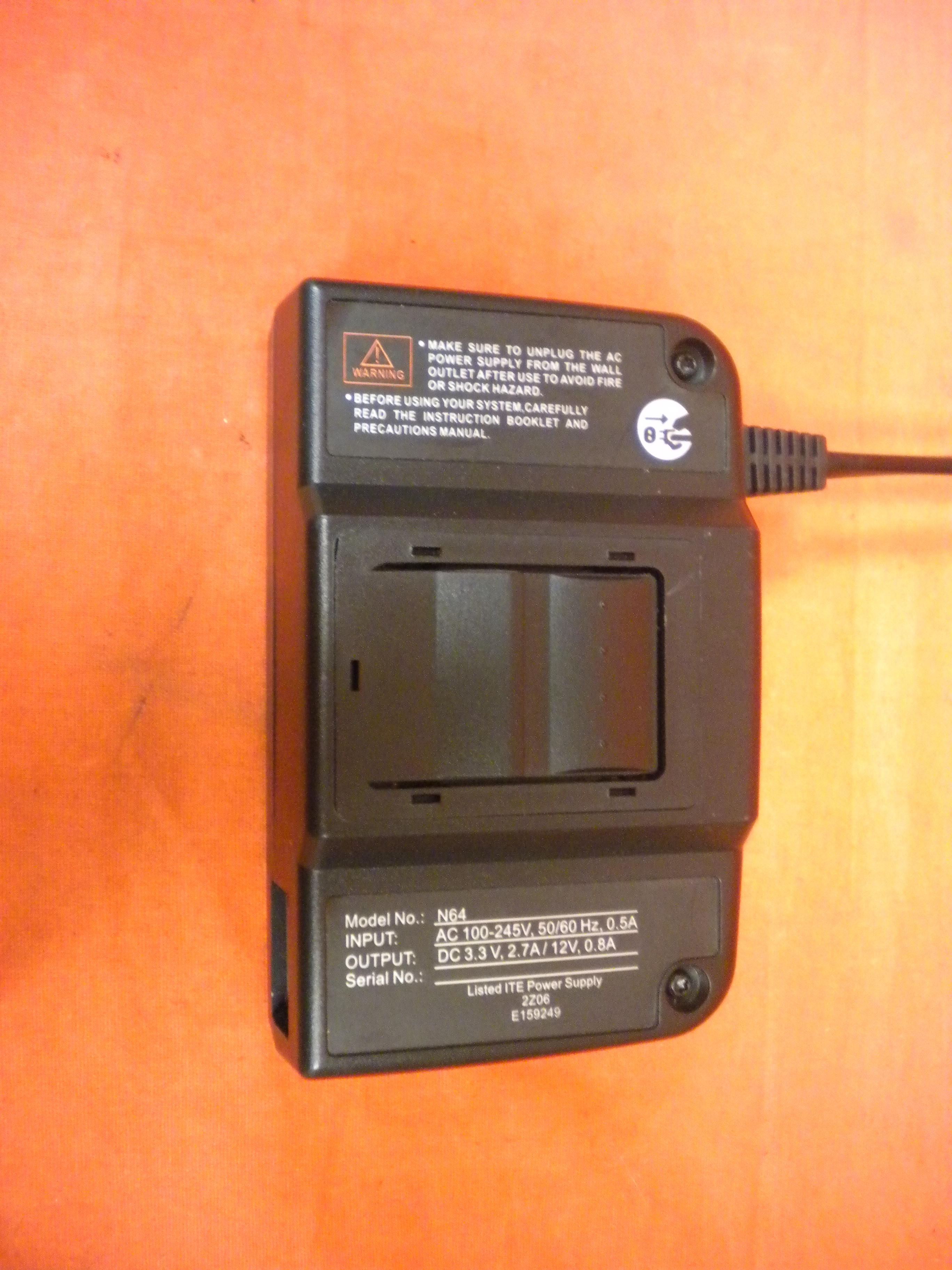 Image 1 of Nintendo 64 AC Power Adapter For N64