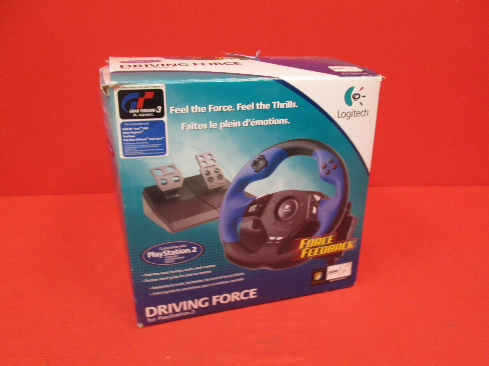 Image 1 of Logitech Driving Force Wheel For PlayStation 2 Incomplete