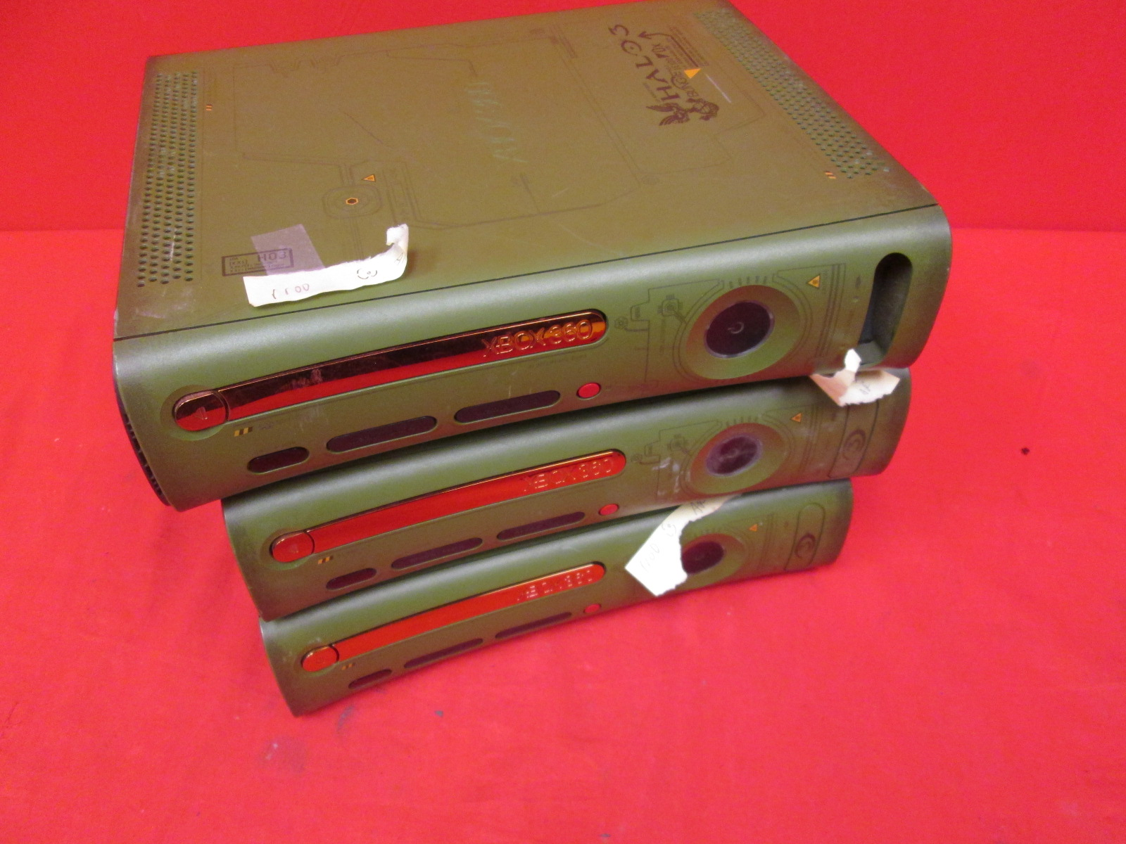 Broken Lot Of 3 Xbox 360 Console Halo 3 Special Edition With HDMI