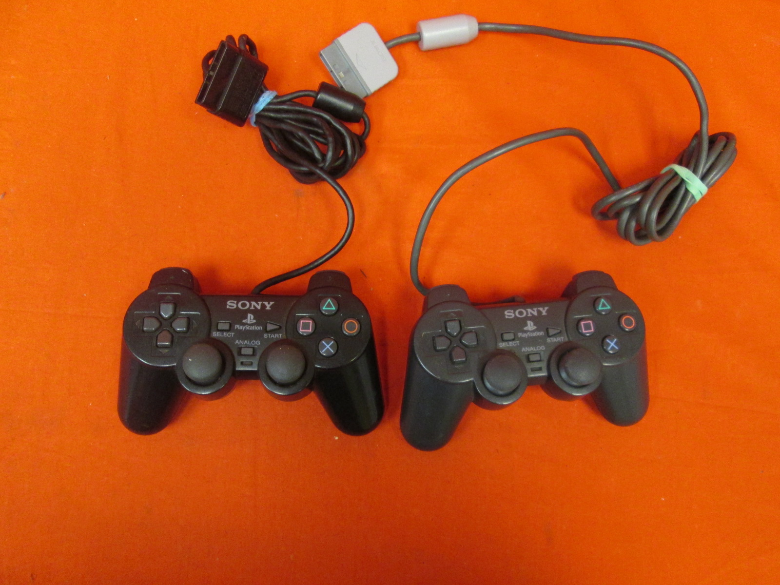 Lot Of 2 Sony OEM PlayStation 2 Dualshock 2 Controllers