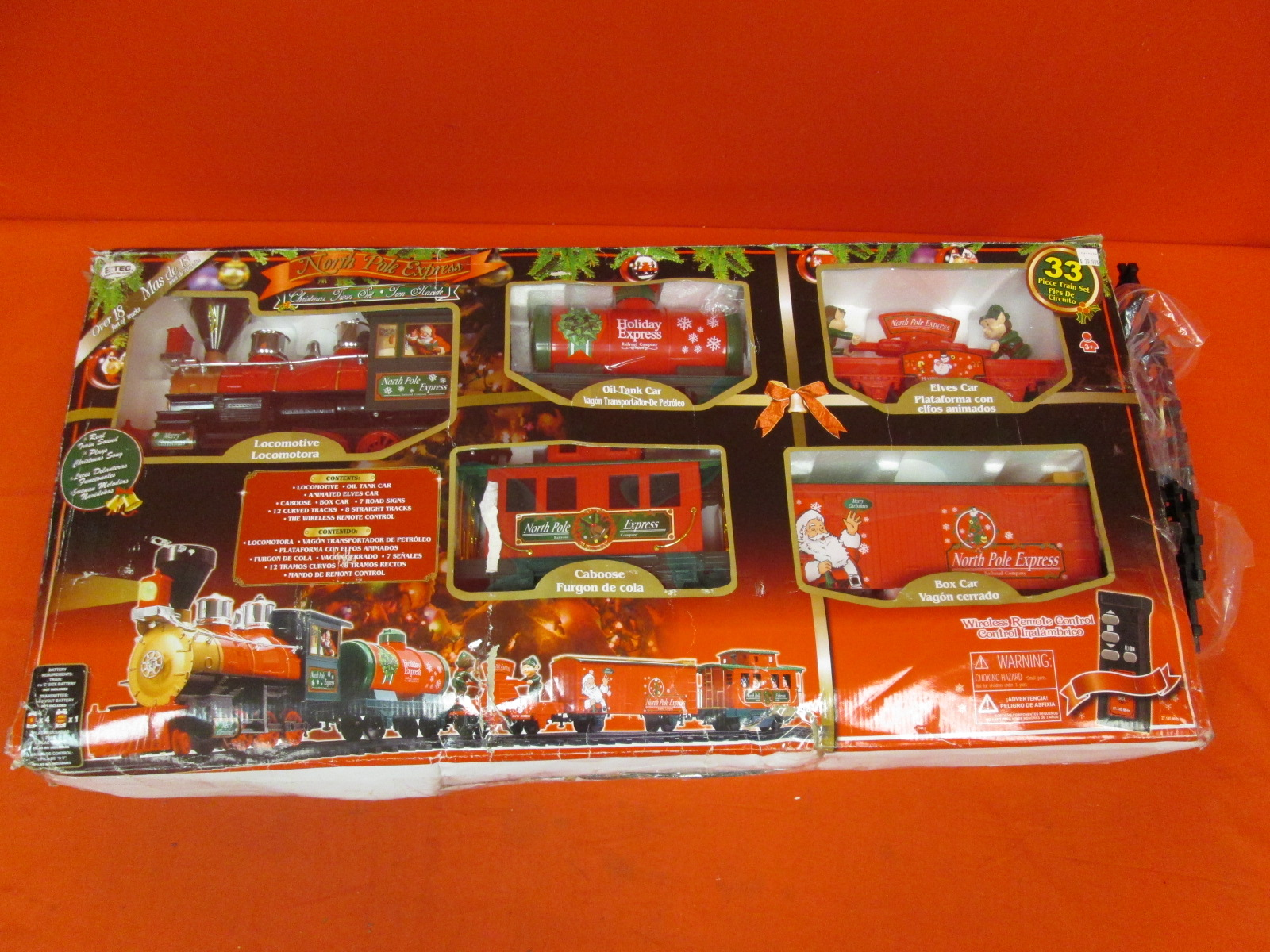 North Pole Express 37187 Musical Remote Control 40PC Train Set