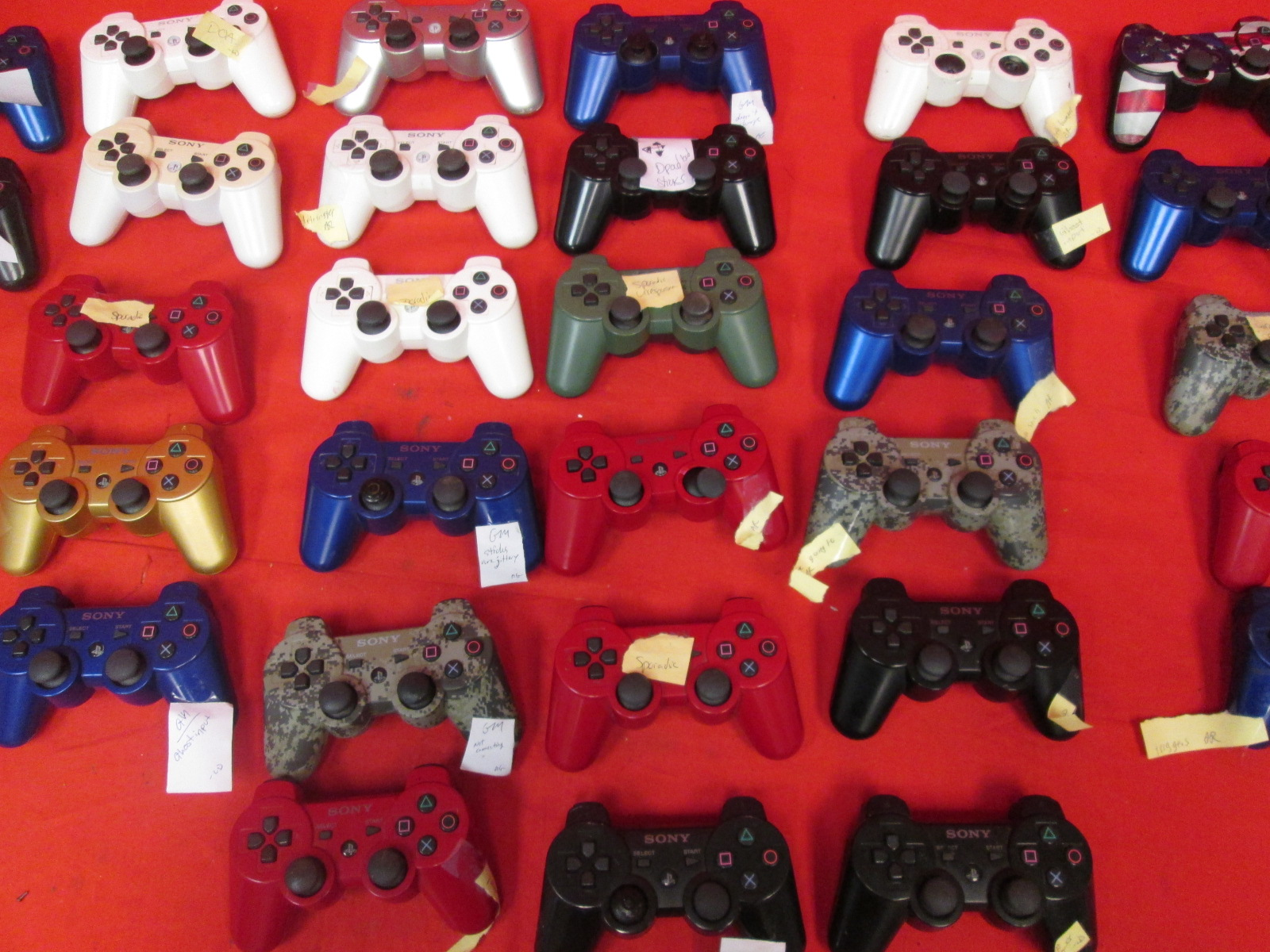 Lot Of 10 Dualshock 3 Wireless Controllers For PlayStation 3 Remote