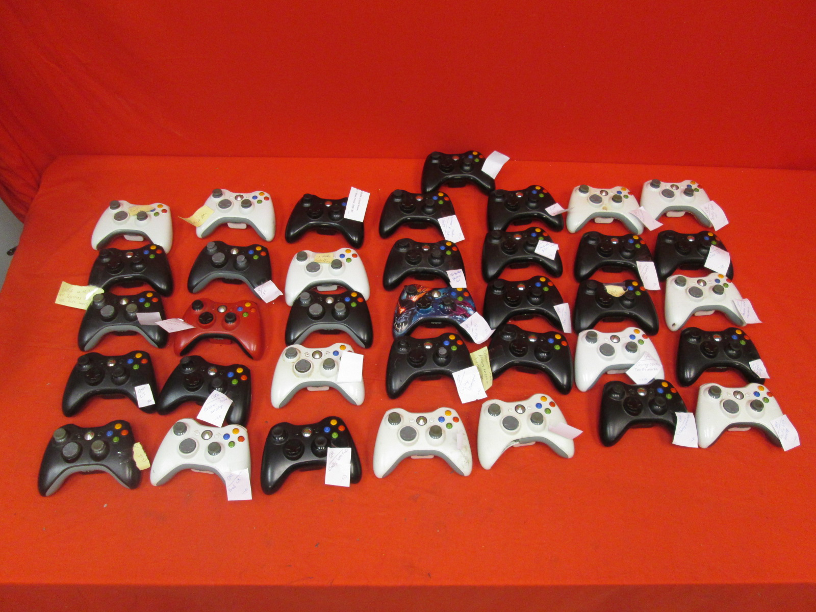 Lot Of 36 Microsoft Wireless Controllers For Xbox 360