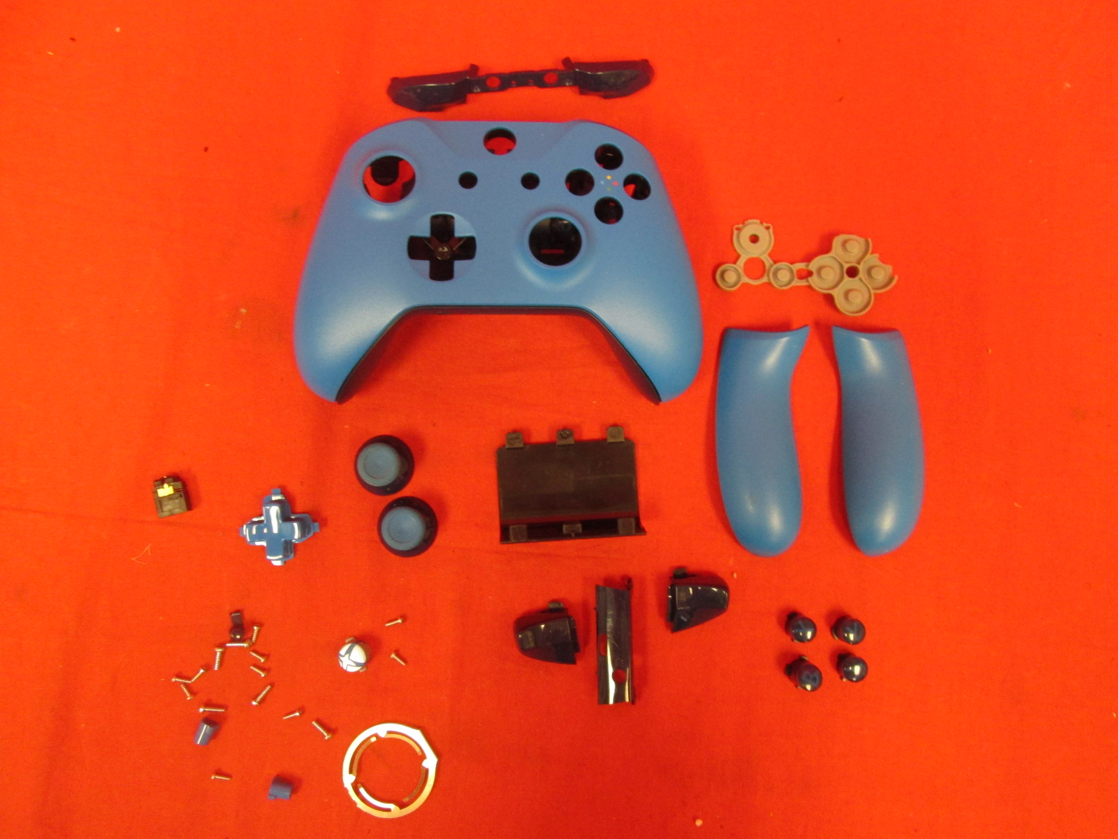 Blue Casing For Xbox One Controllers Full Button Set Thumbsticks Solid