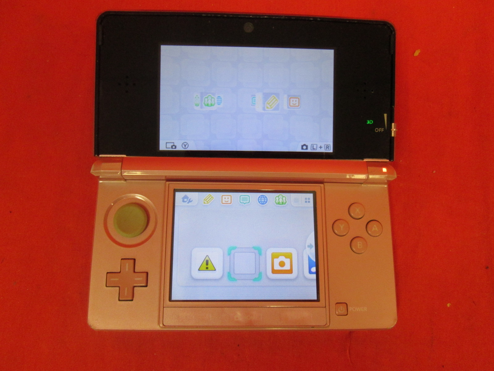 Nintendo 3DS Pearl Pink Handheld Console