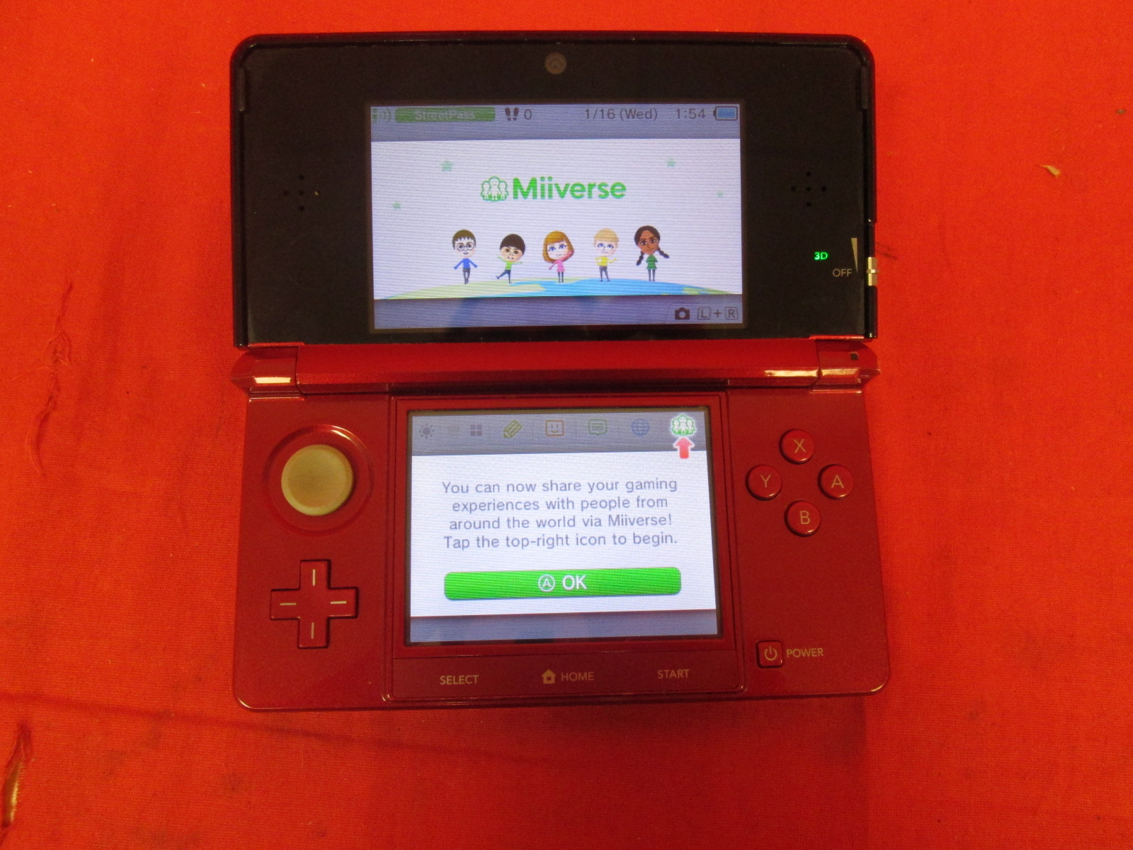Nintendo 3DS Flame Red Handheld Console